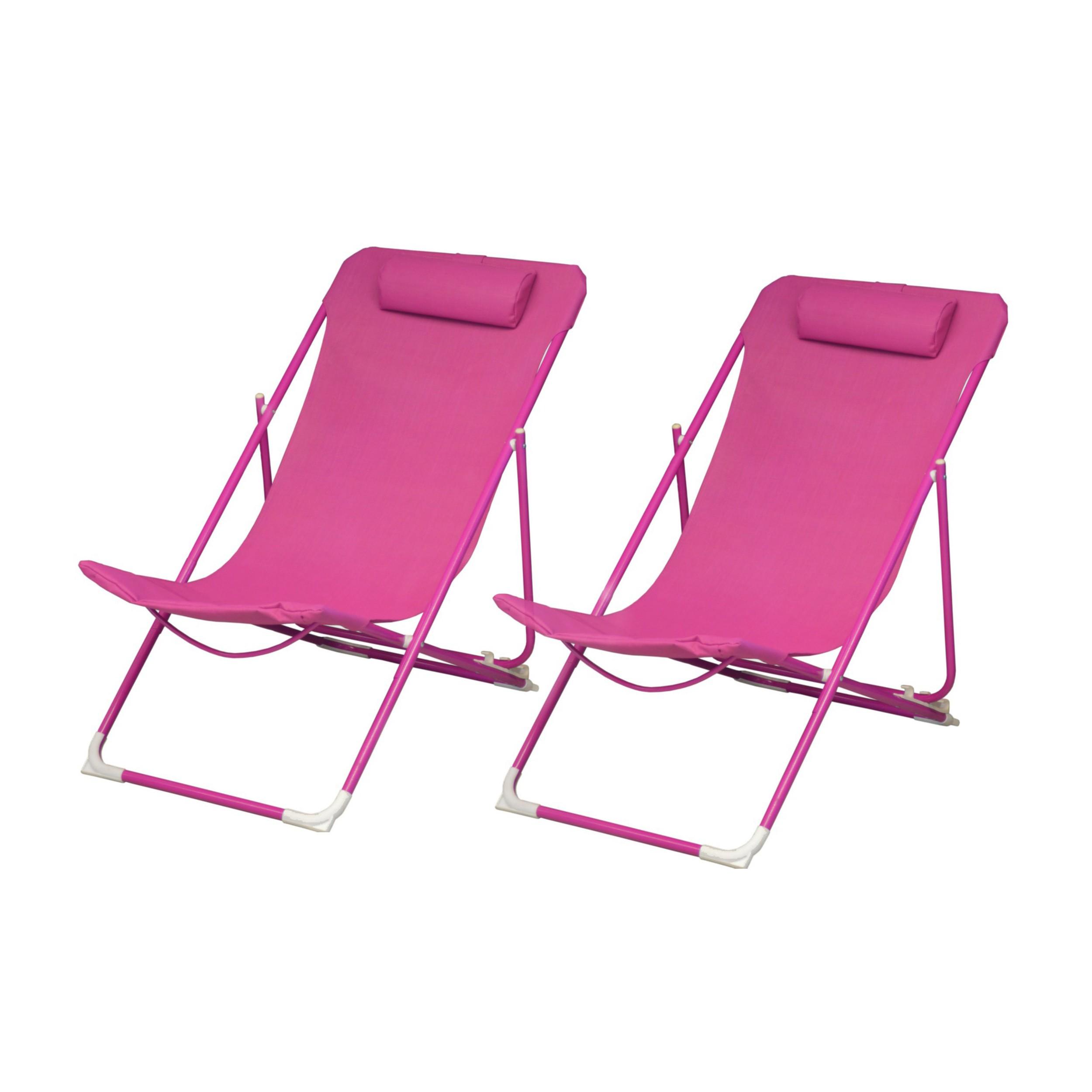 La Chaise Longue Billard chaise longue almeria rose (lot de 2)