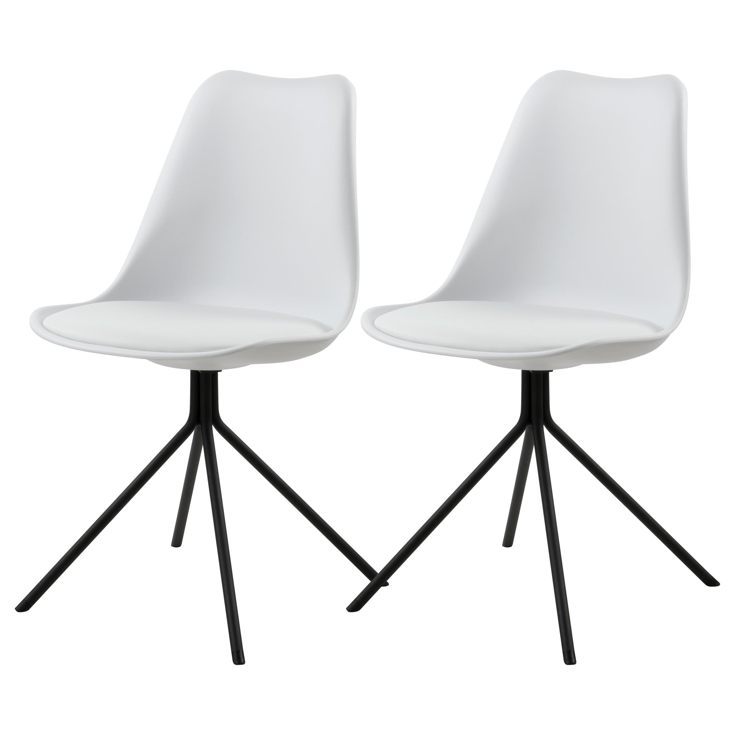 acheter chaise lot de 2 blanches