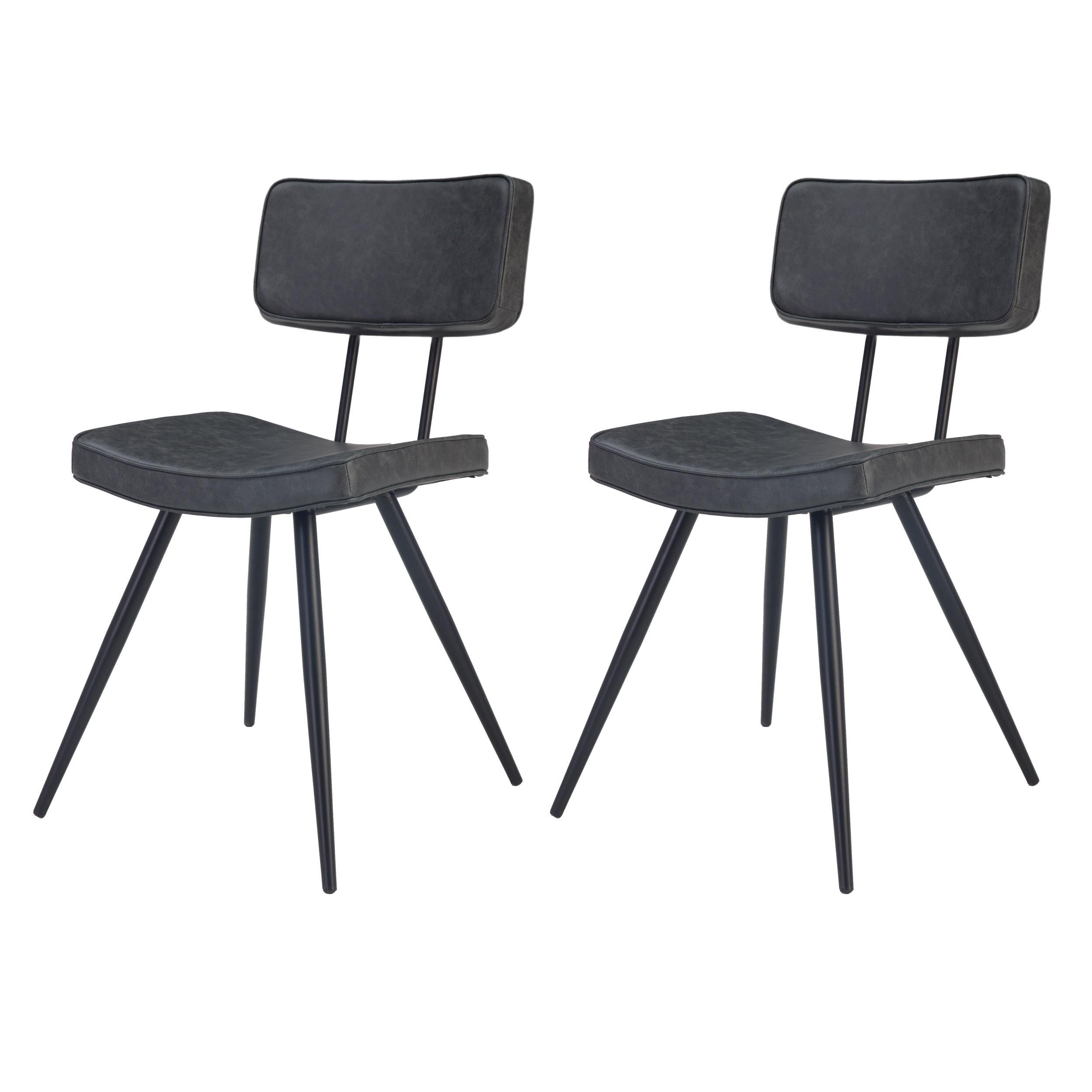 acheter chaise lot de 2 cuir synthetique