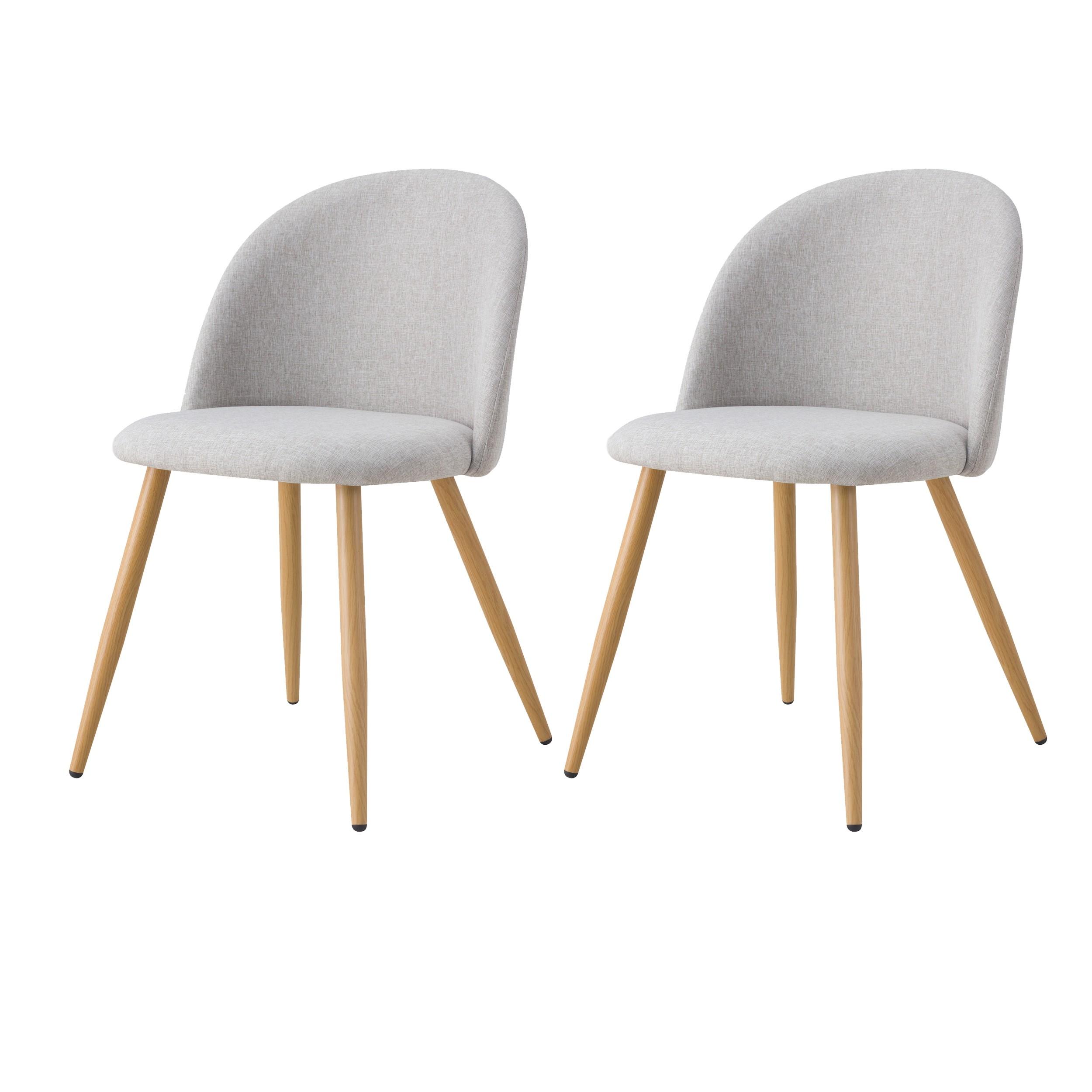 acheter chaise lot de 2 scandi