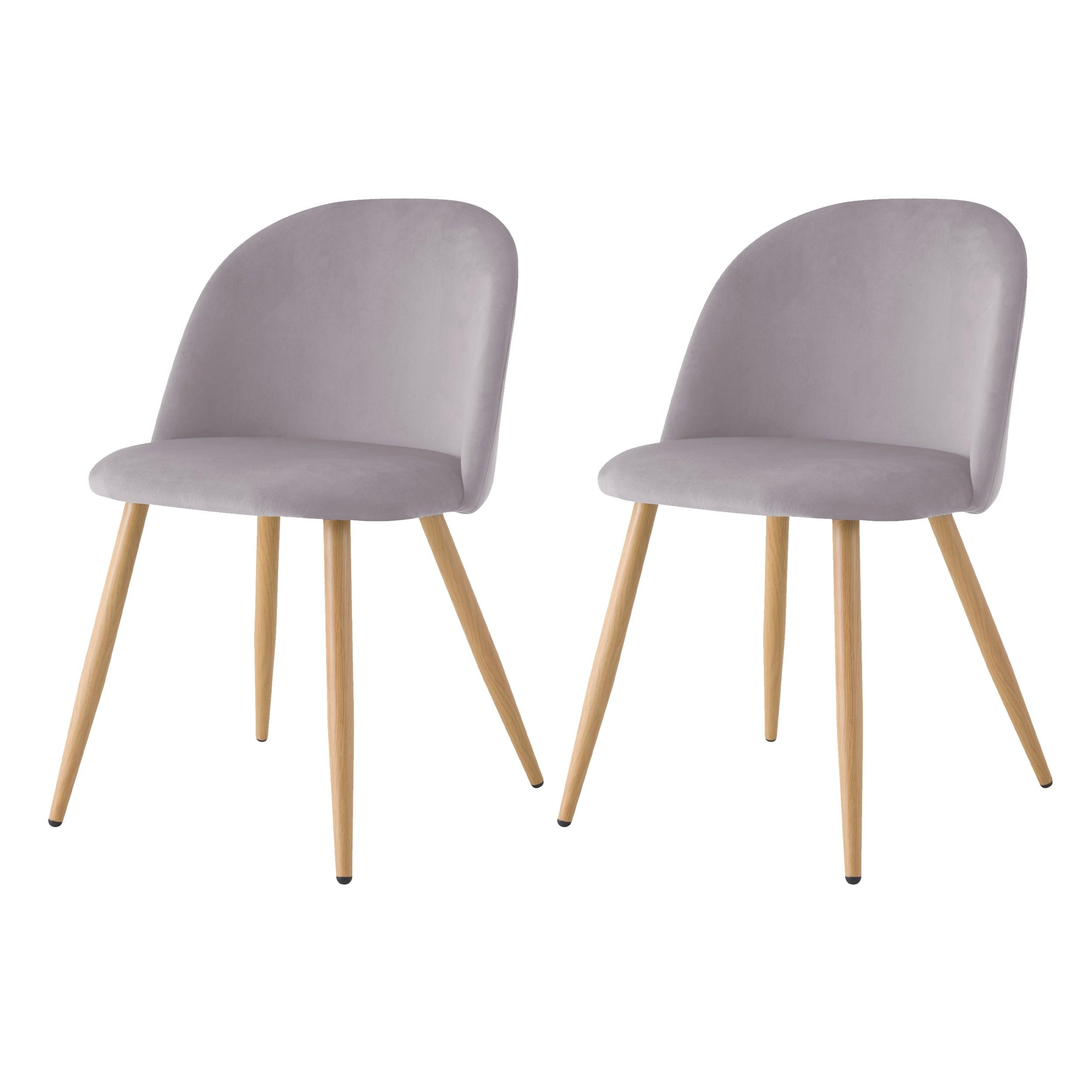 acheter chaise lot de 2 scandinave-grises
