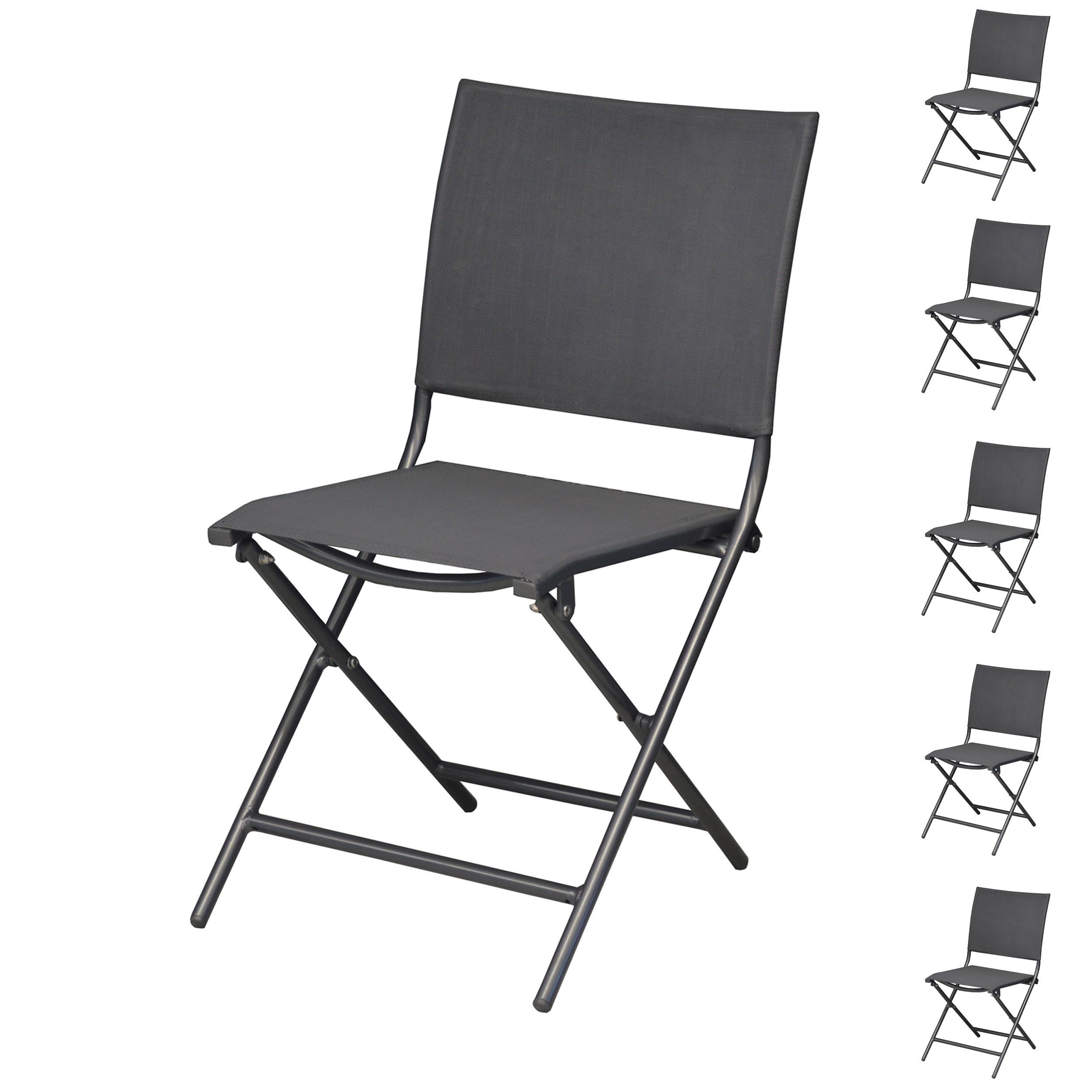 acheter chaise lot de 6 gris
