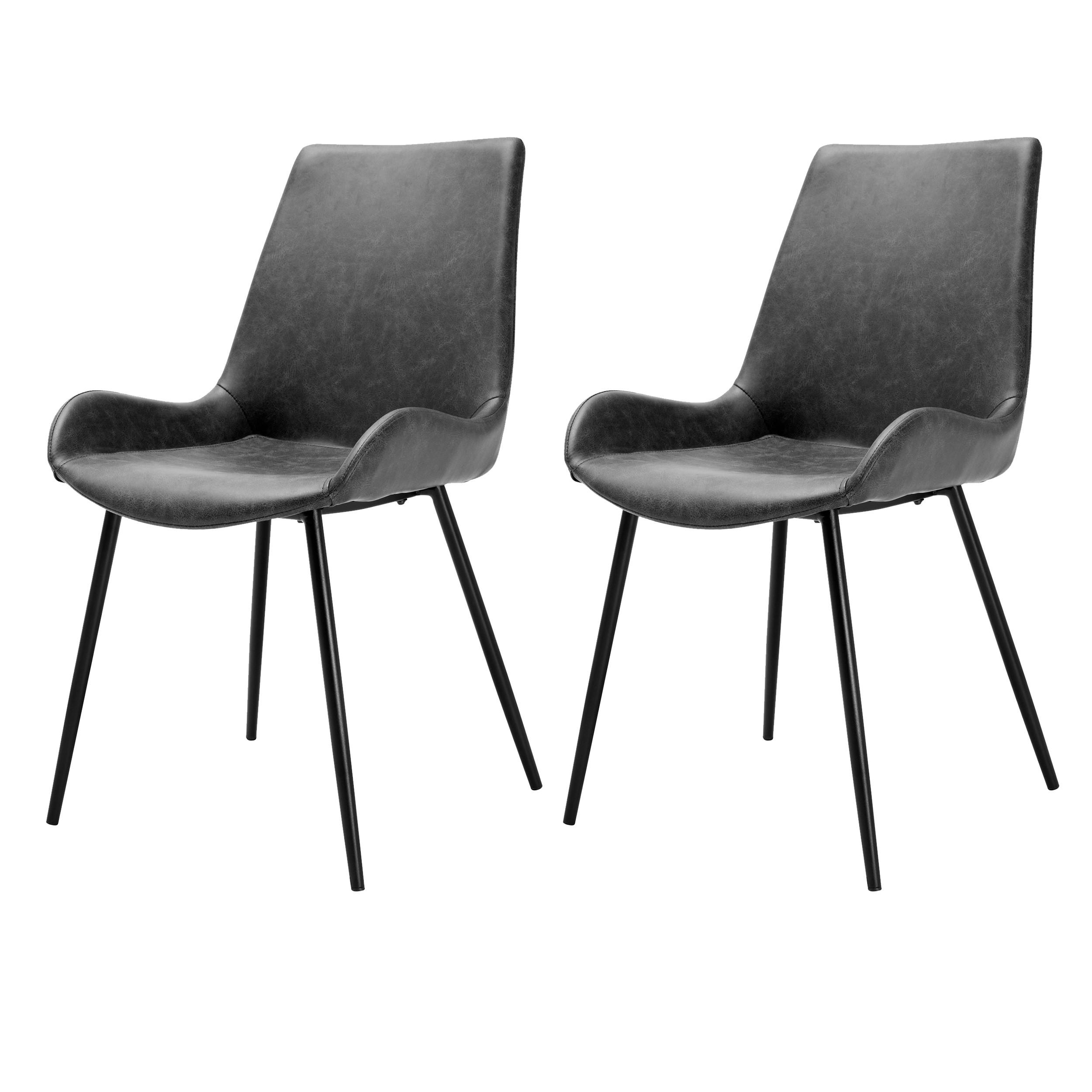 acheter chaise gris foncé delavee