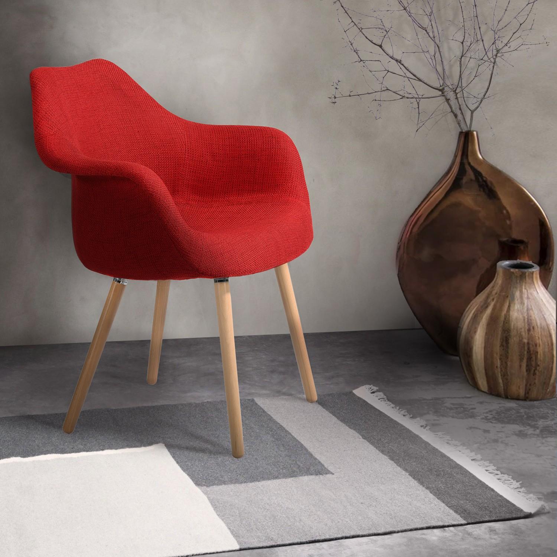 chaise rouge anssen petit prix