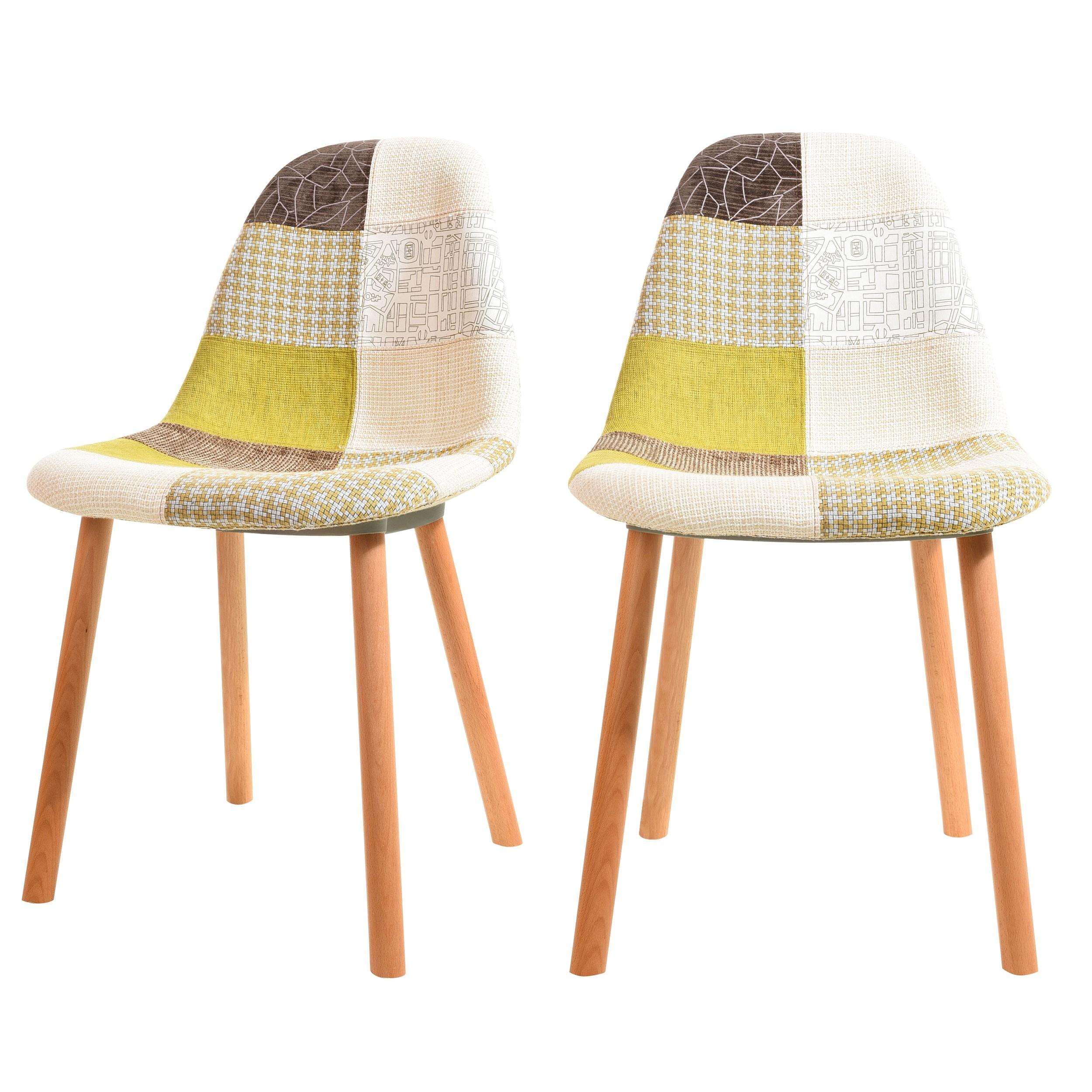 acheter chaise scandinave tissu vert