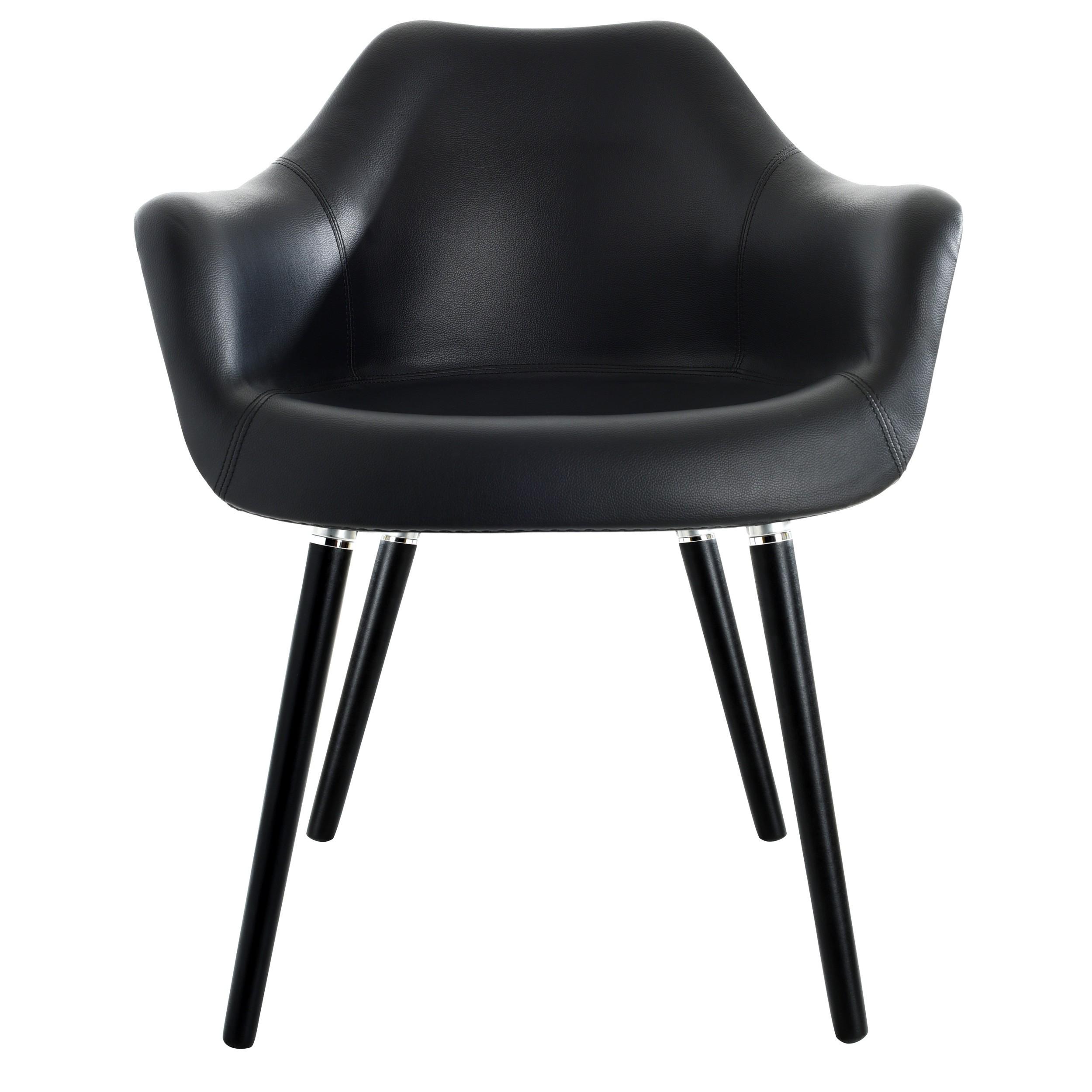 chaise anssen en cuir synth tique noir achetez nos chaises anssen en cuir synth tique noir rdv d co. Black Bedroom Furniture Sets. Home Design Ideas