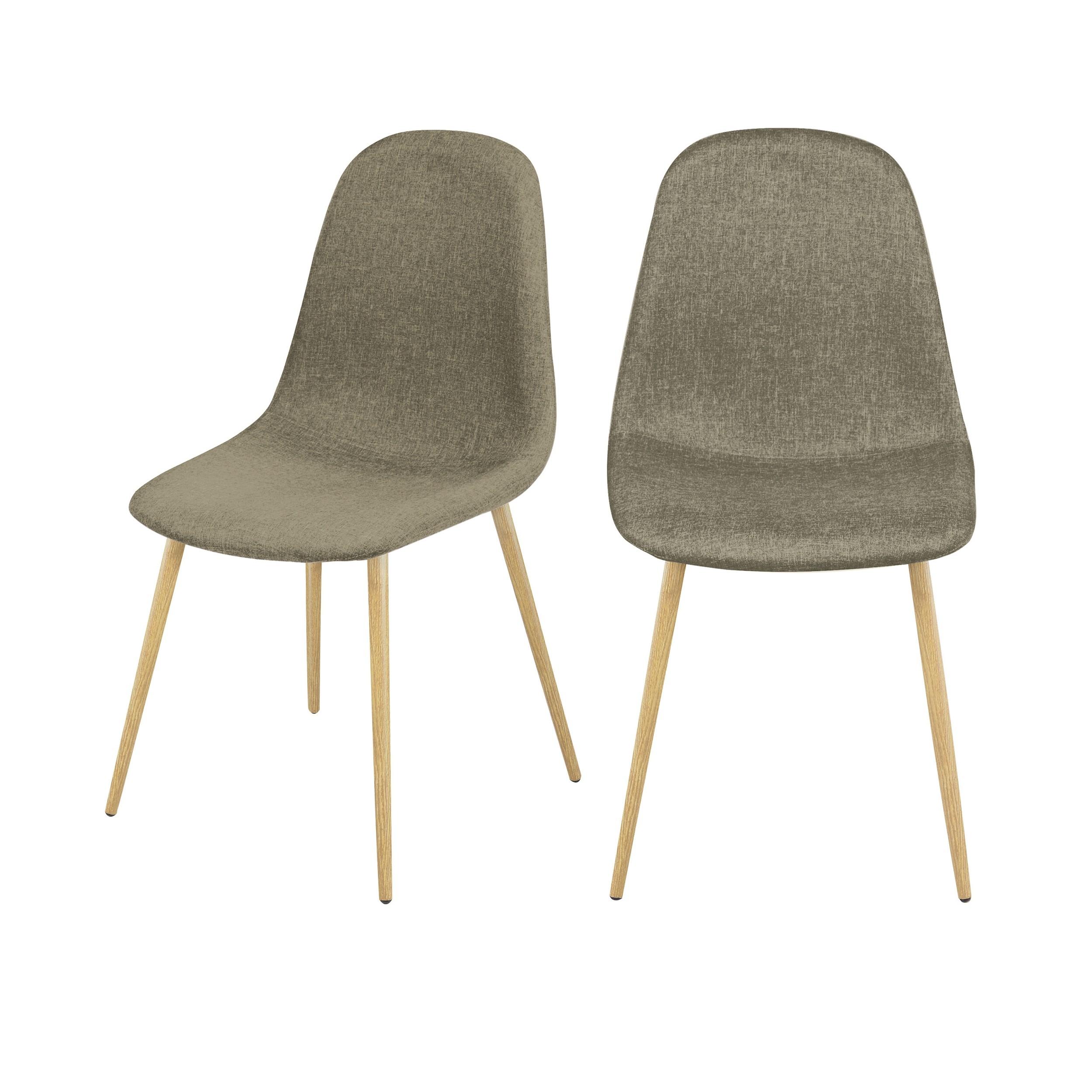 acheter chaise lot de 2 taupe