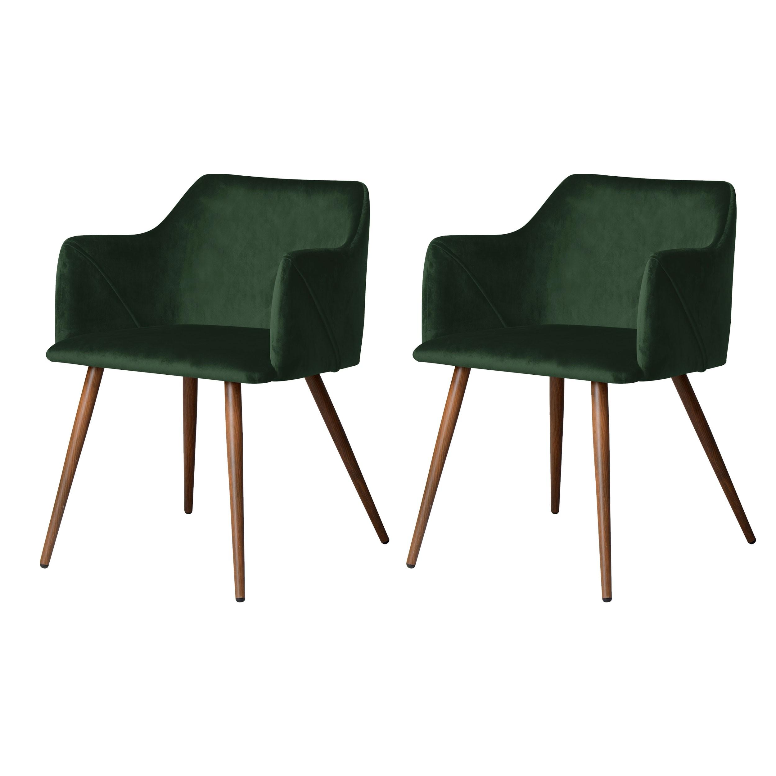 acheter chaise velours vert fonce