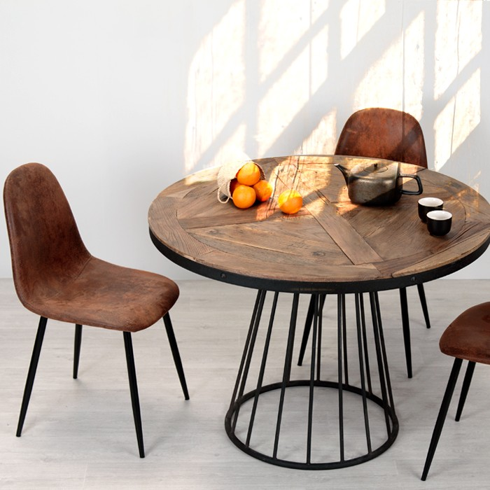 acheter chaise vintage marron vieilli
