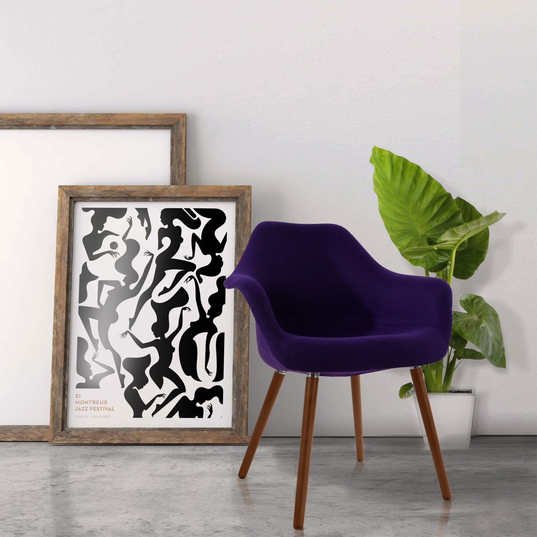 Chaise Anssen violette