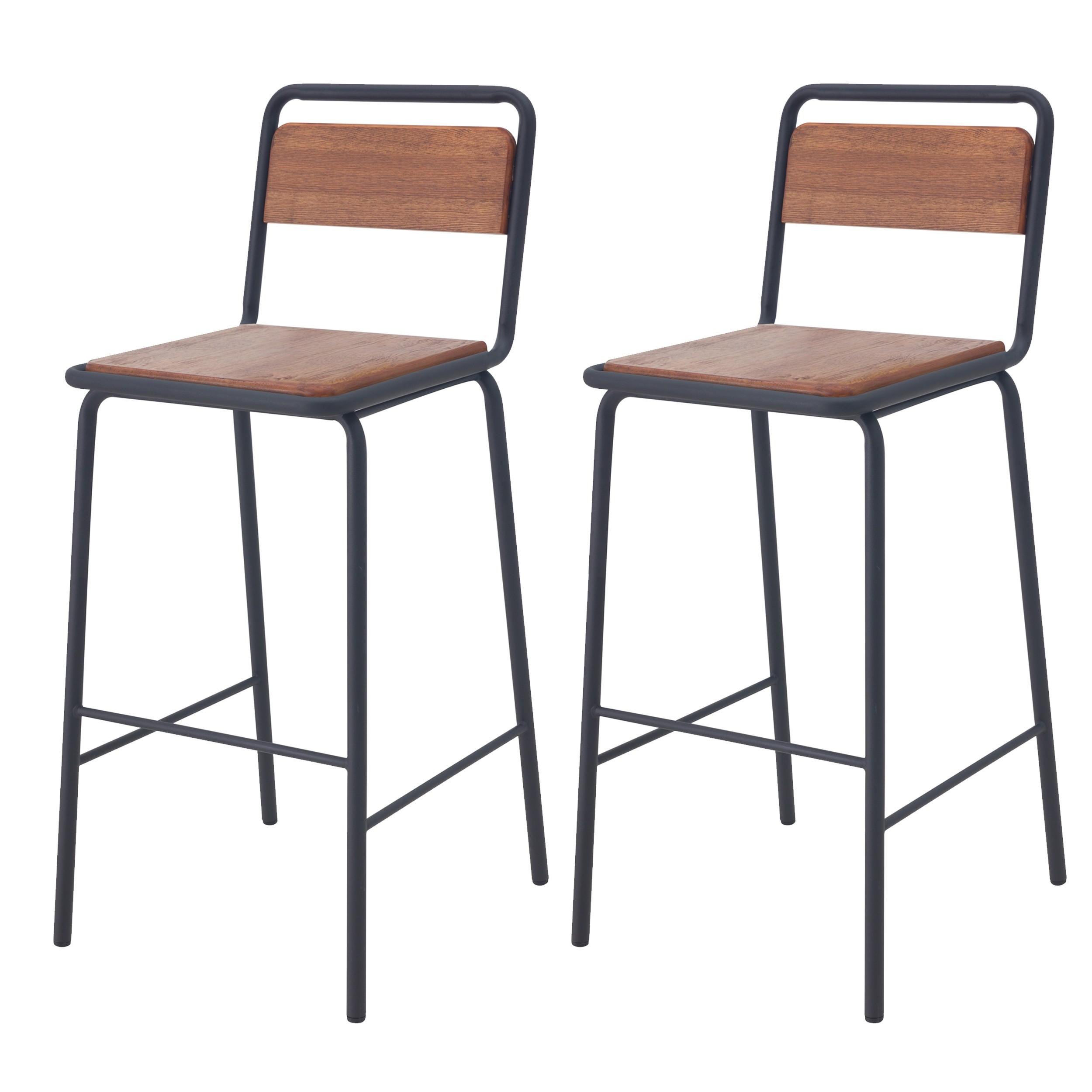 acheter chaises de bar ecolier bois