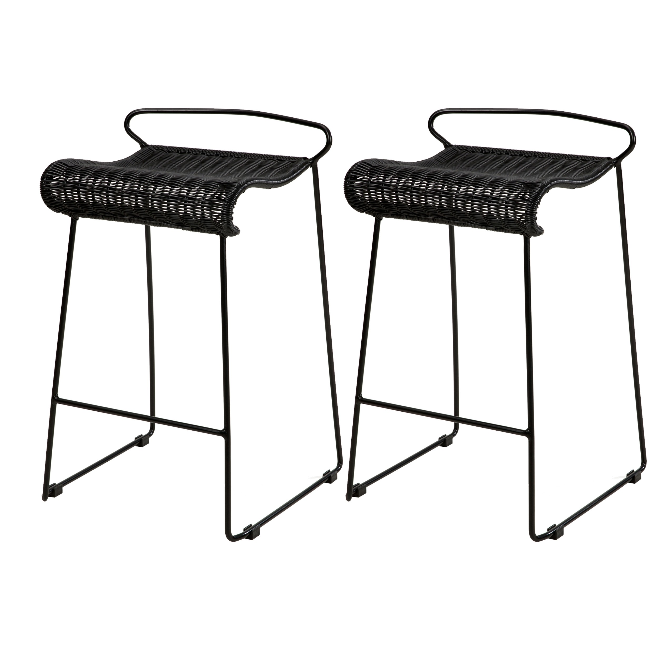 acheter chaises de bar noires resines