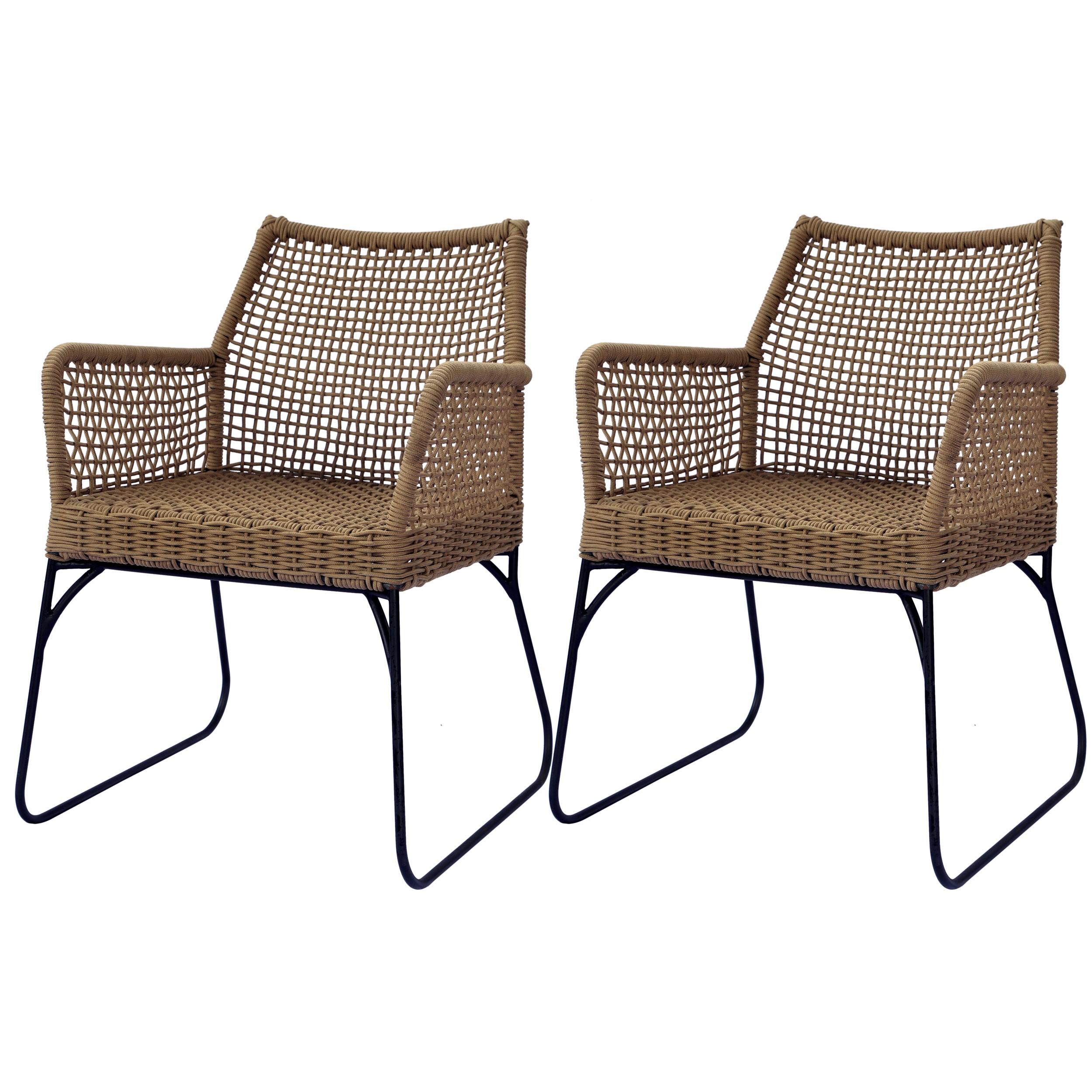 Chaise goa beige lot de 2 commandez nos chaises goa - Table plus chaise de jardin pas cher ...