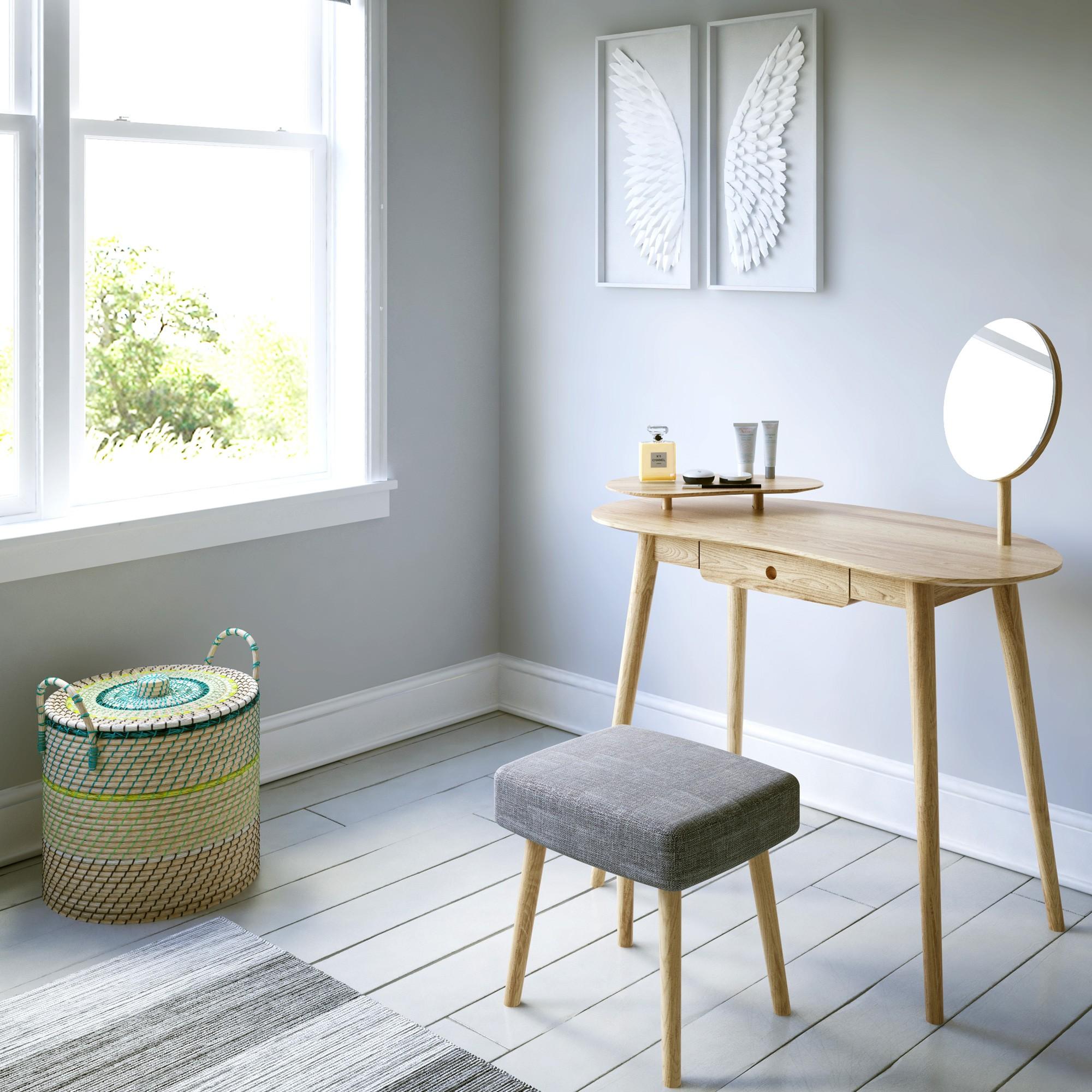 acheter coiffeuse design bois clair