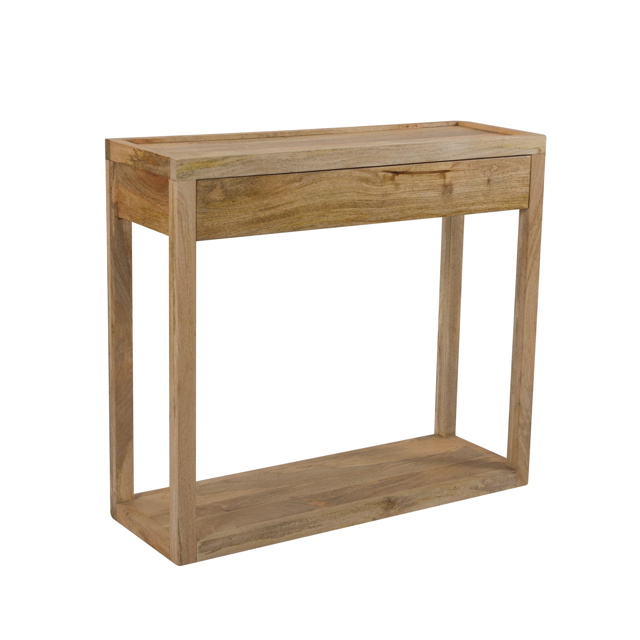 acheter console en bois de manguier naturel