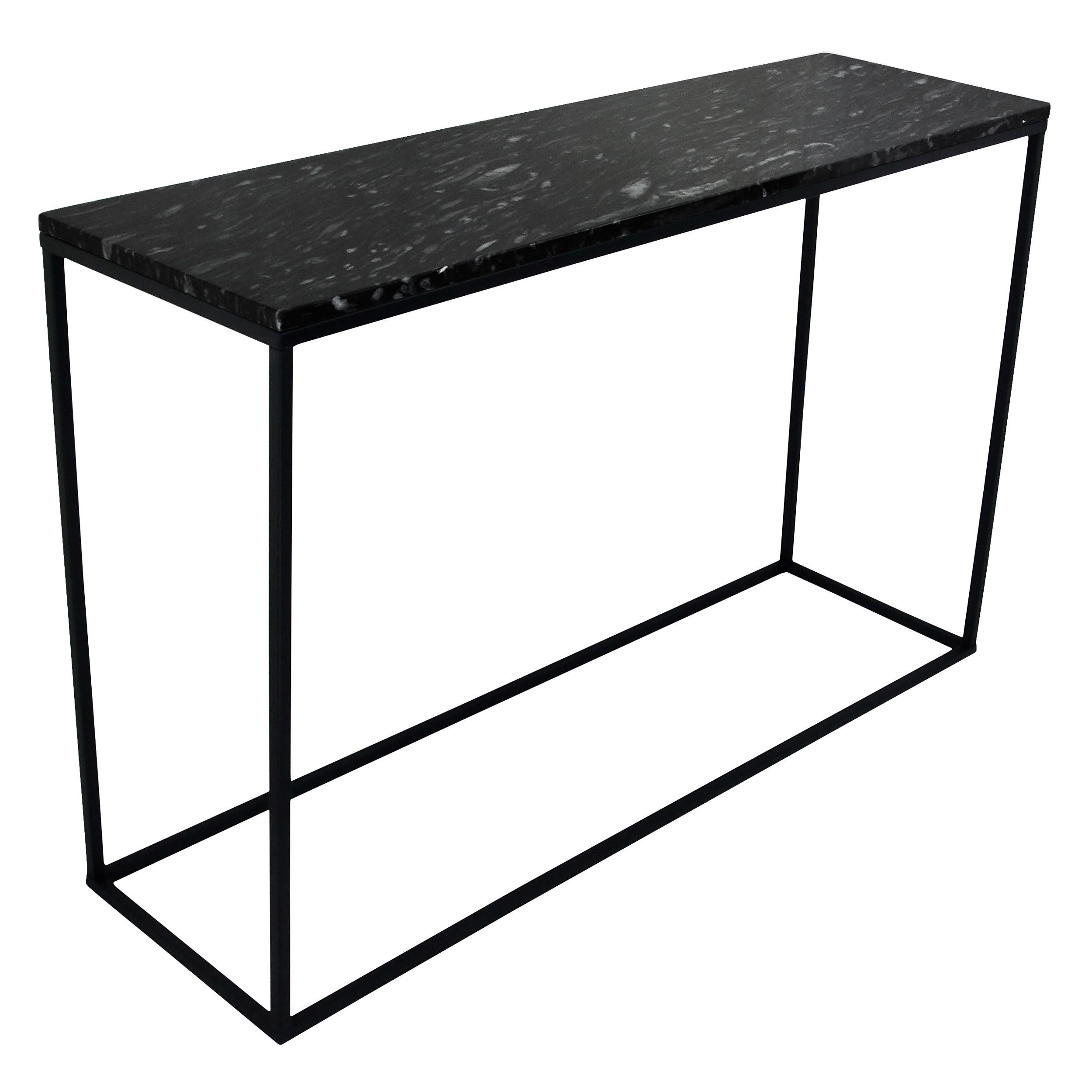 acheter console marbre noir