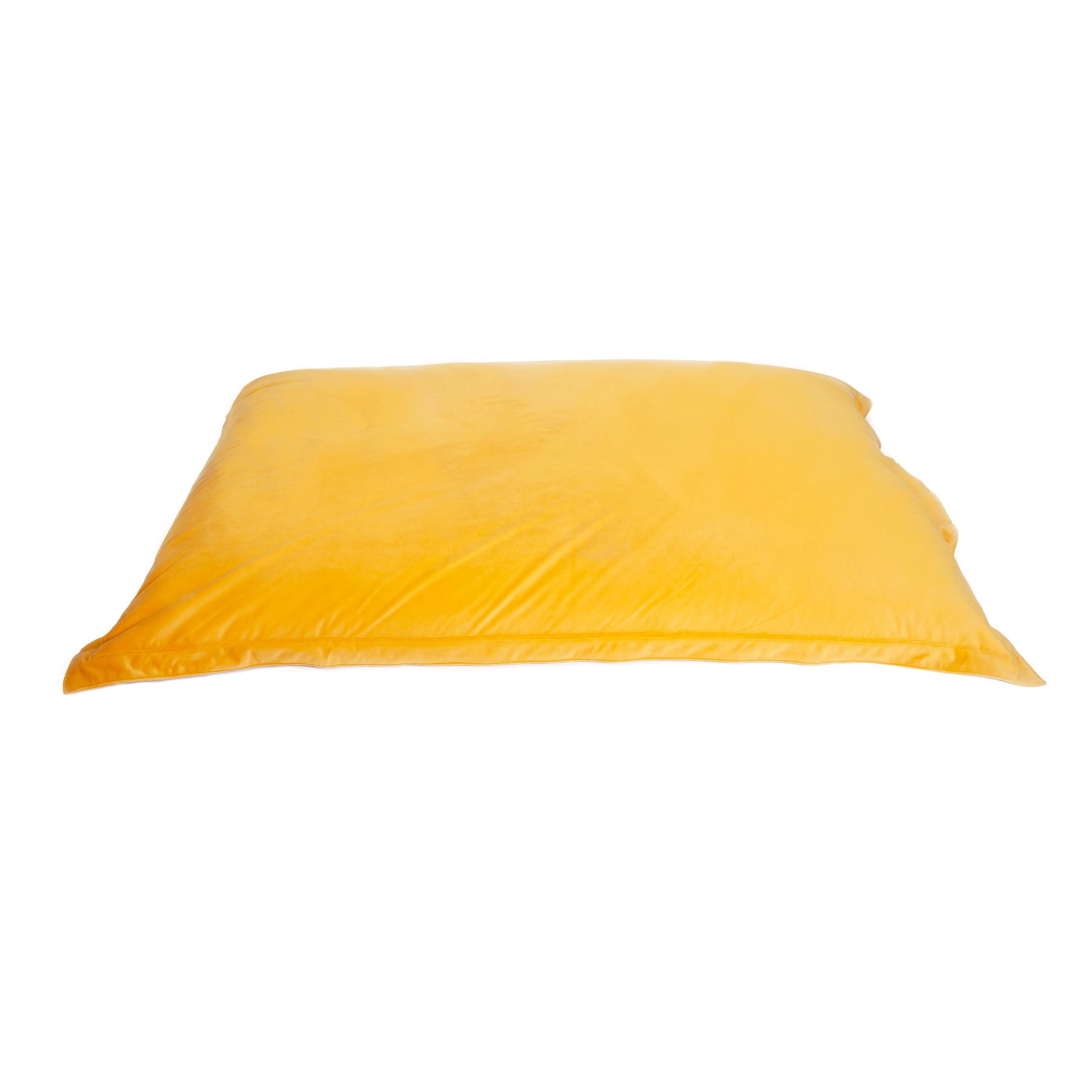acheter coussin d interieur en velours jaune