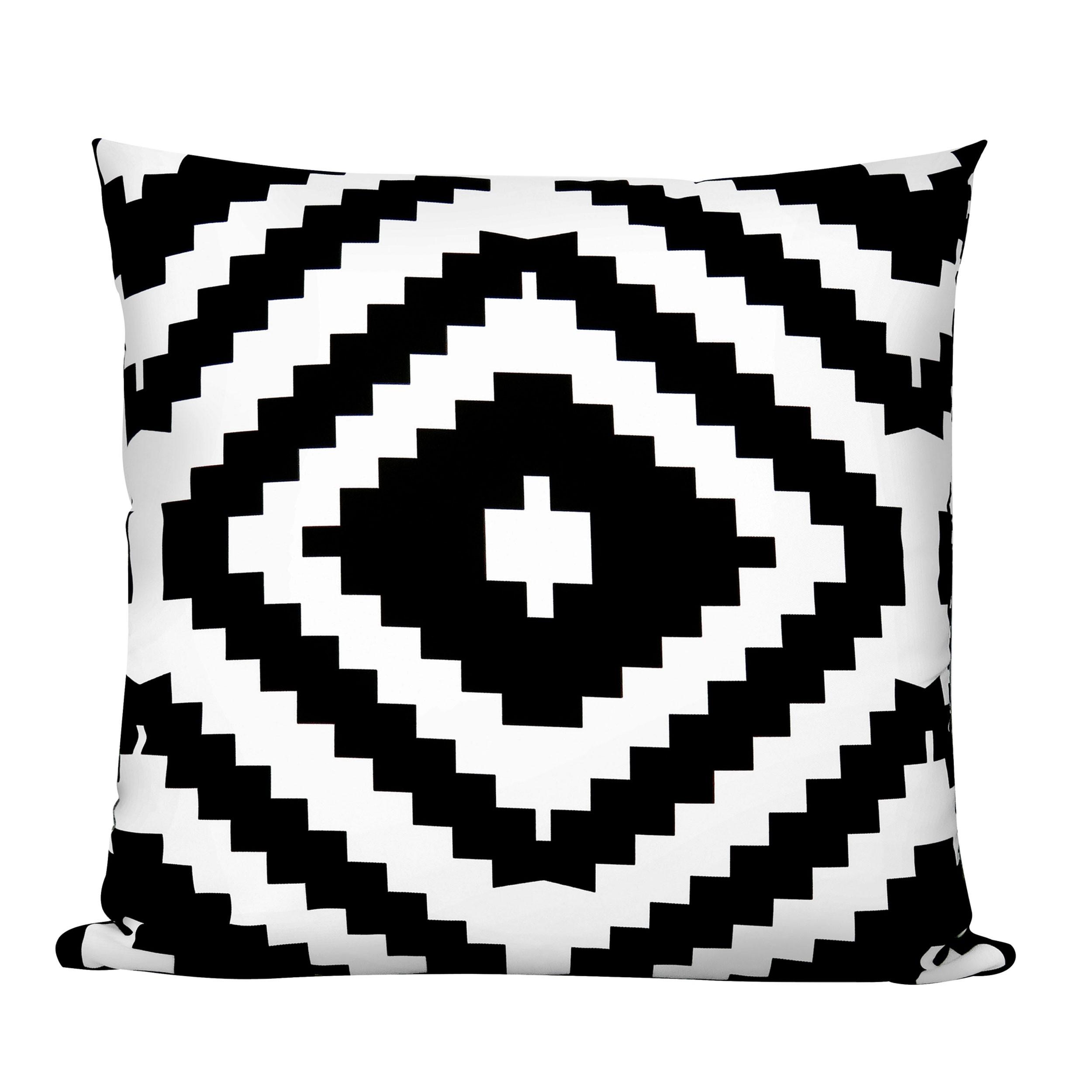 coussin bicolore ethni noir et blanc compl tez votre. Black Bedroom Furniture Sets. Home Design Ideas
