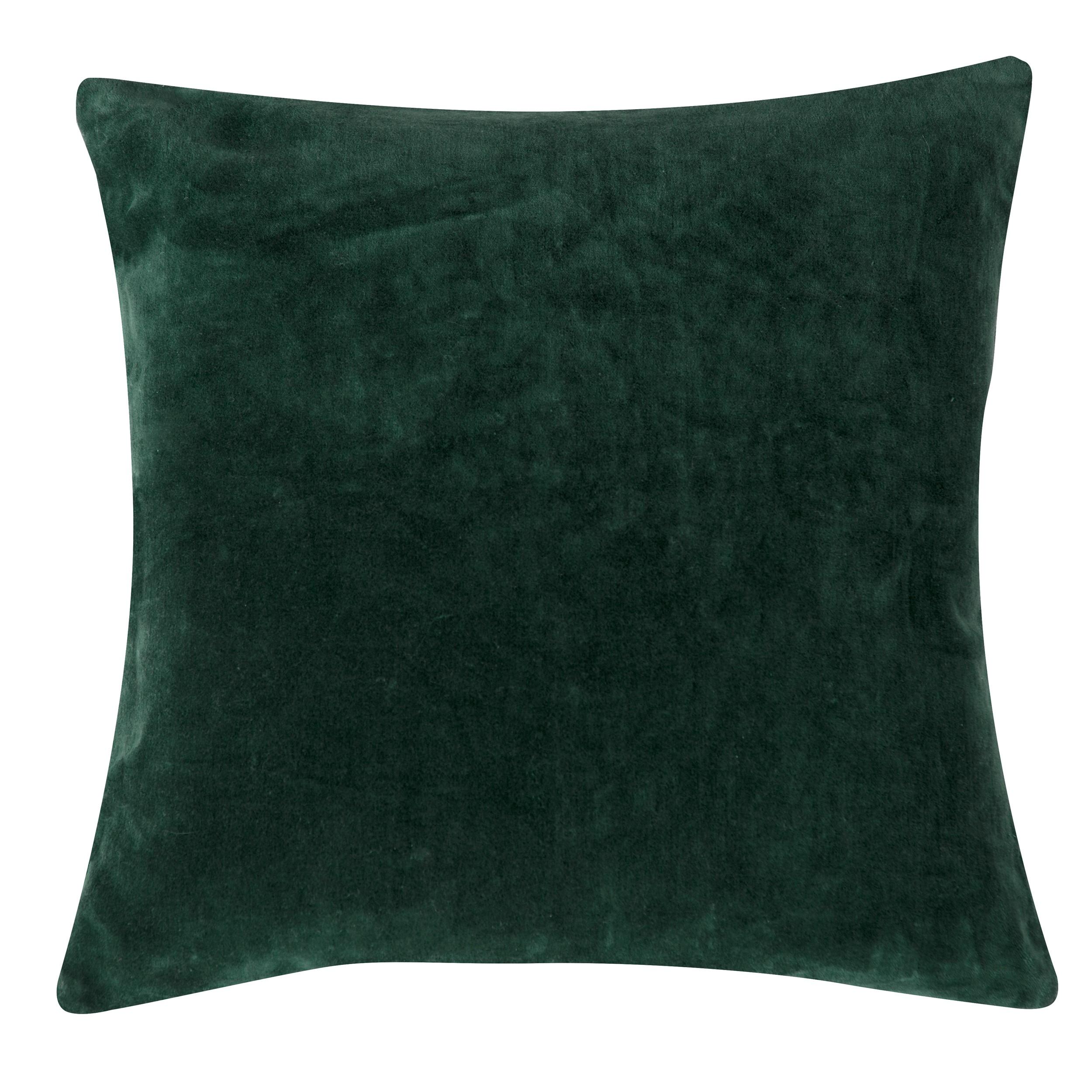 acheter coussin vert sapin velours