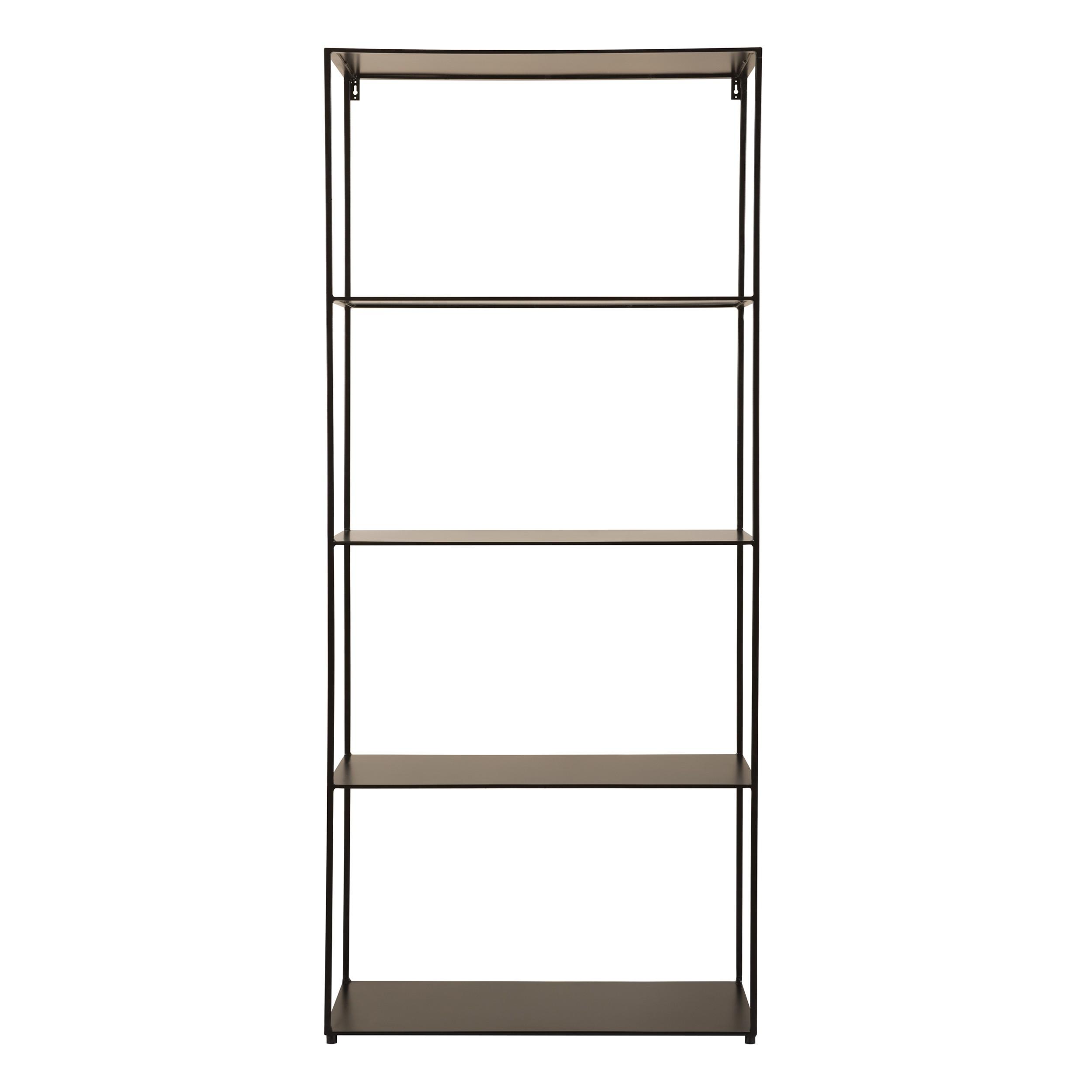 acheter etagere en metal noir 4 niveaux