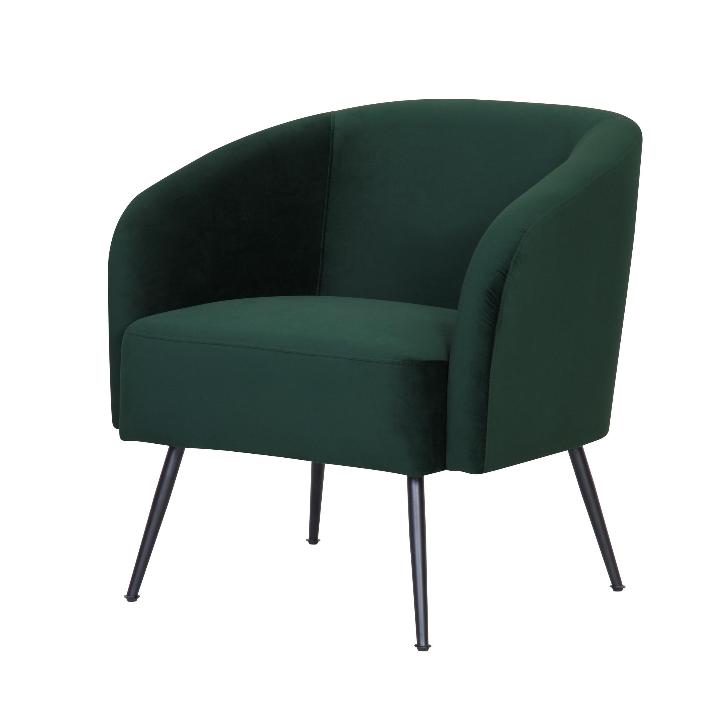 acheter fauteuil assise en velours vert pieds metal