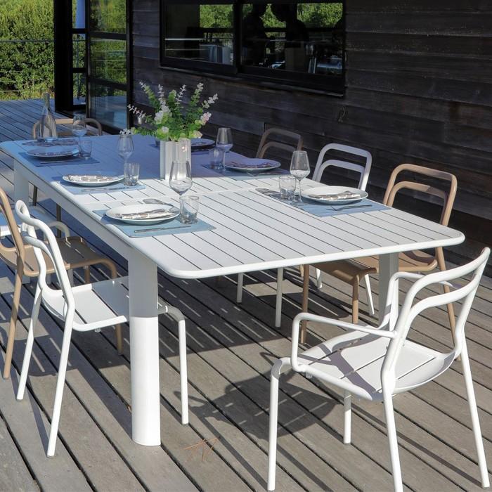 acheter fauteuil blanc de jardin