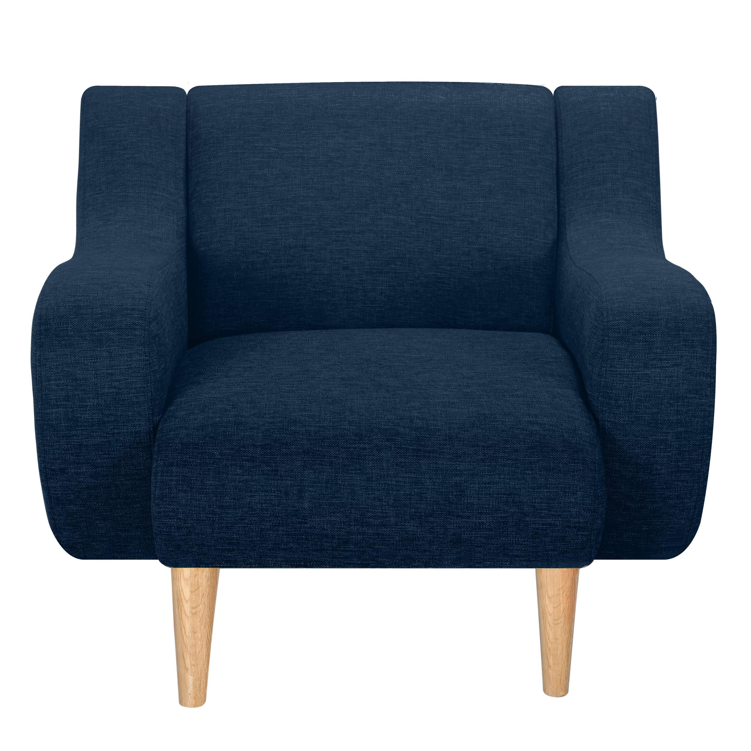acheter fauteuil bleu tissu