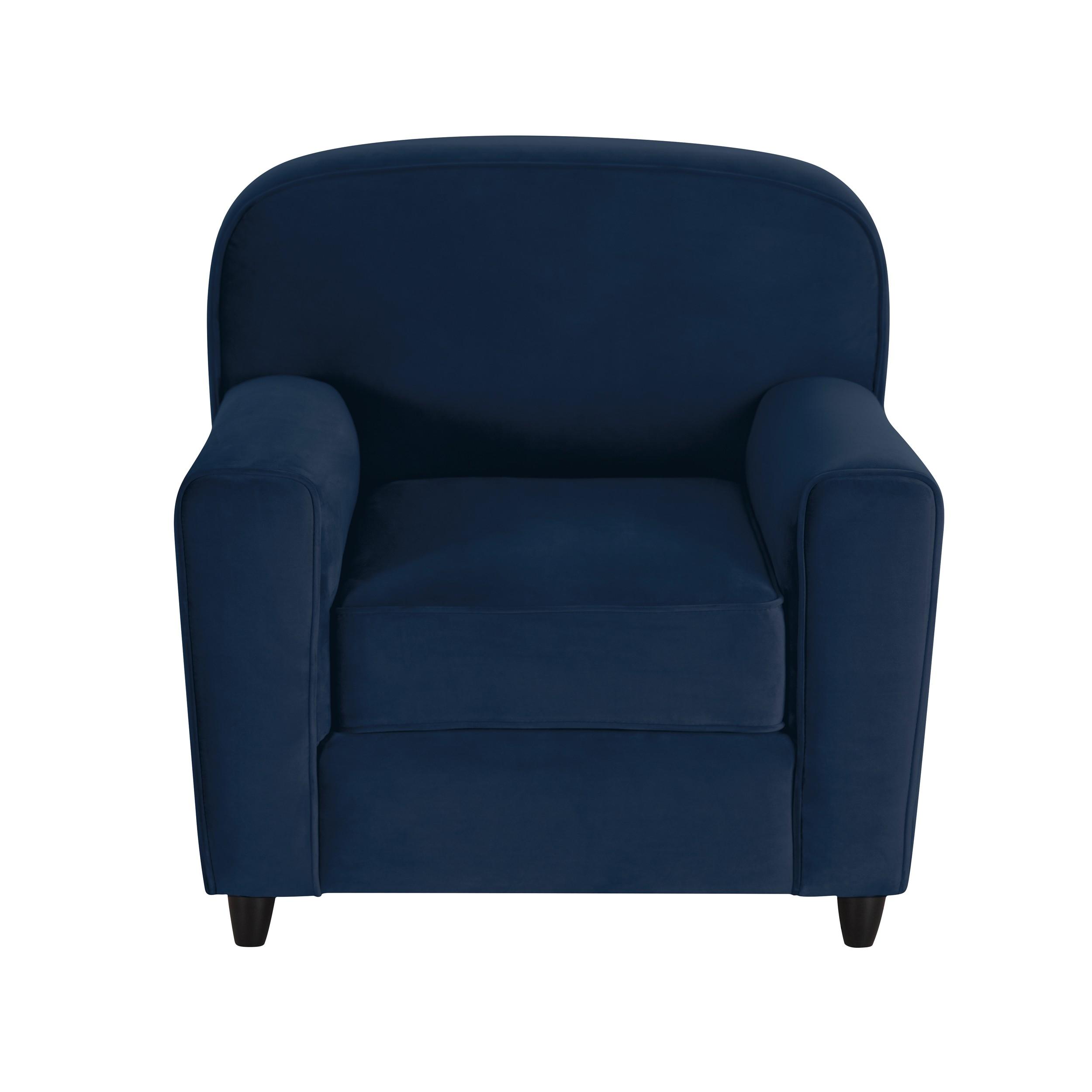 acheter fauteuil club bleu velours
