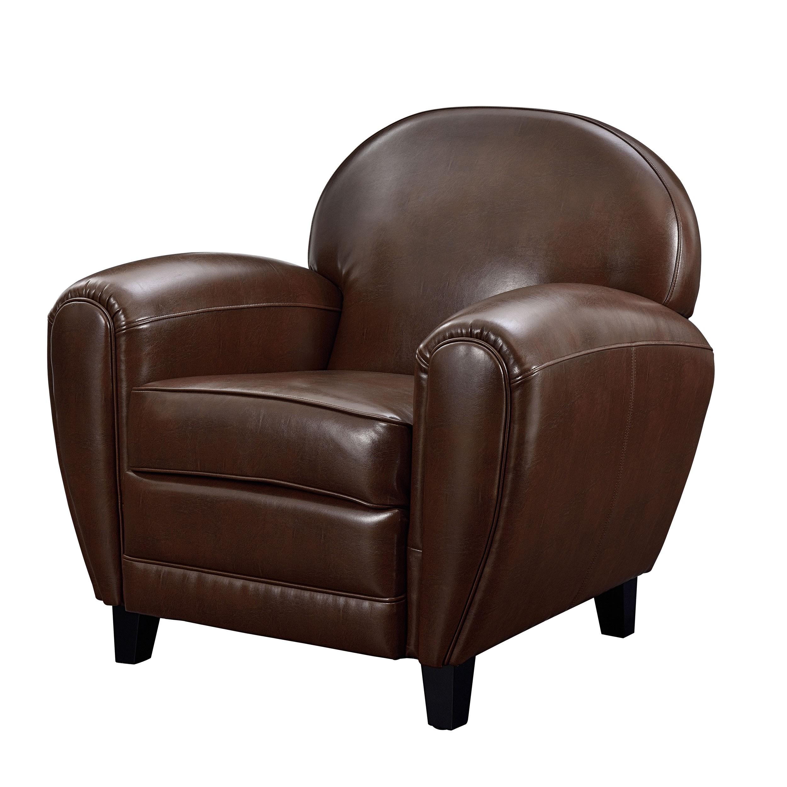 fauteuil club cuir marron achetez nos fauteuils club cuir marron rdv d co. Black Bedroom Furniture Sets. Home Design Ideas