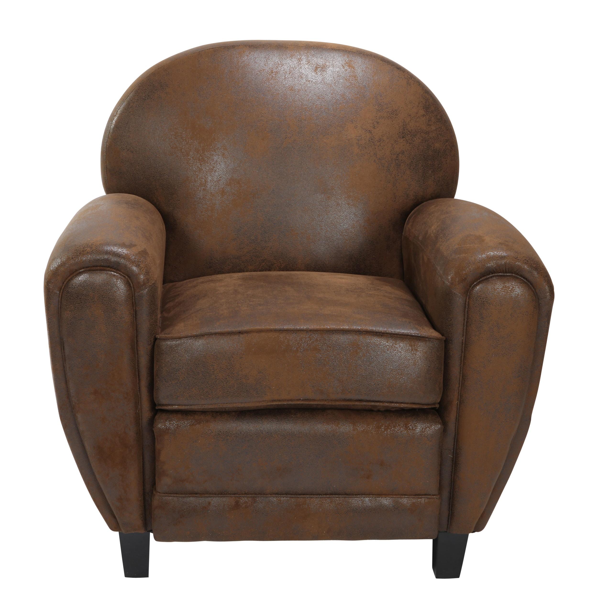 fauteuil club marron. Black Bedroom Furniture Sets. Home Design Ideas