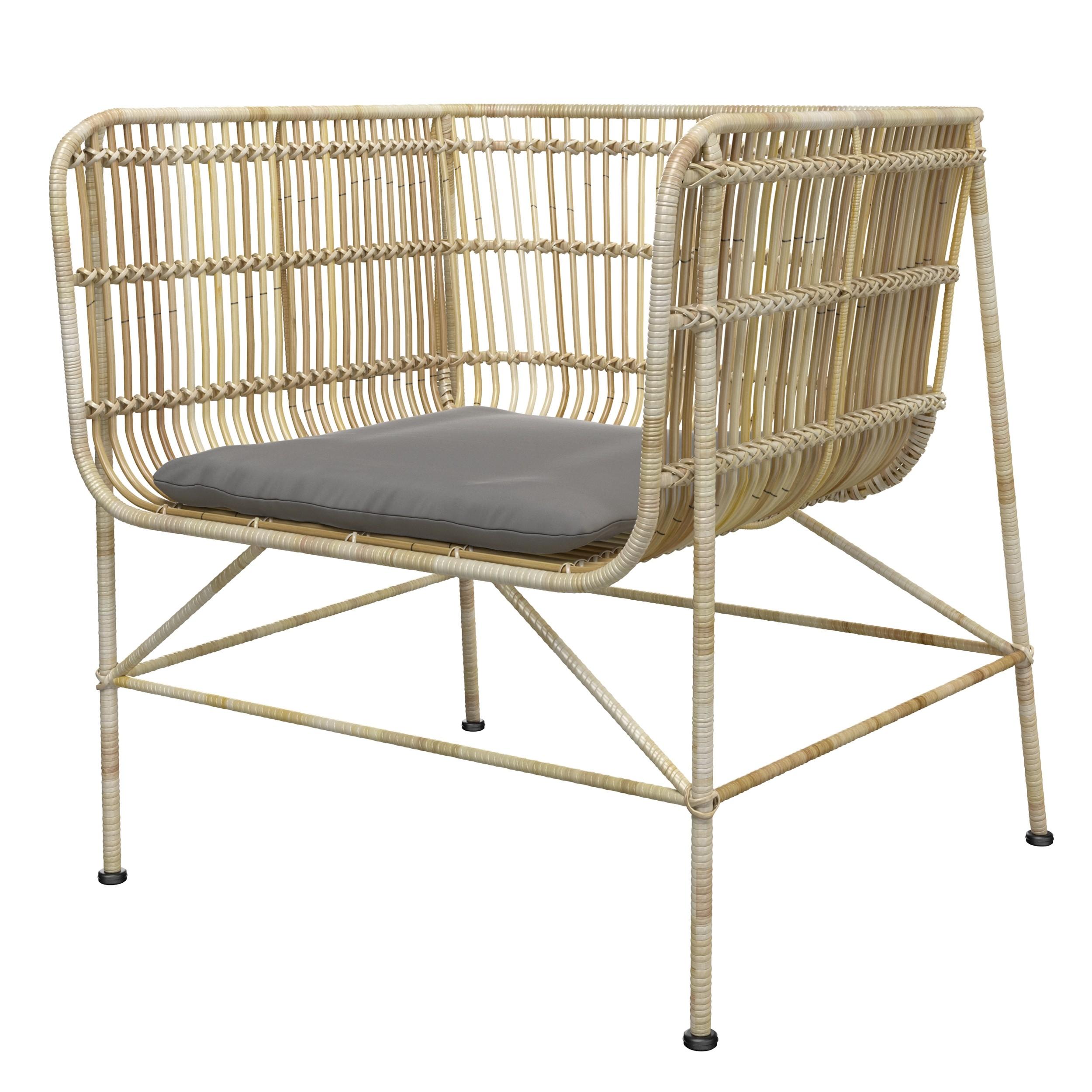 acheter fauteuil en rotin naturel