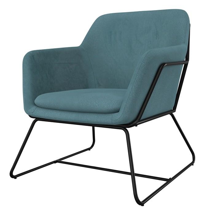acheter fauteuil en velours bleu