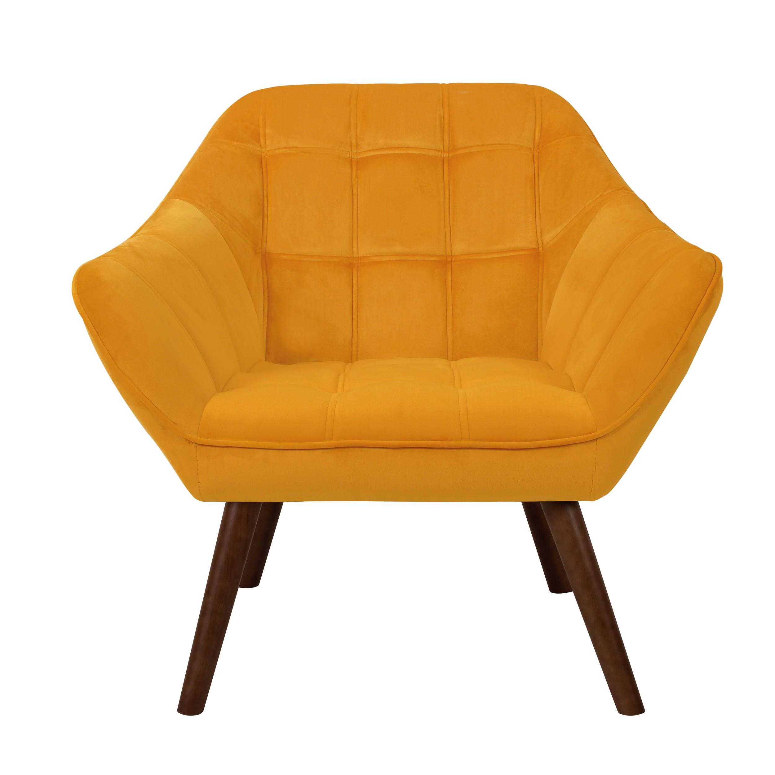 acheter fauteuil en velours jaune