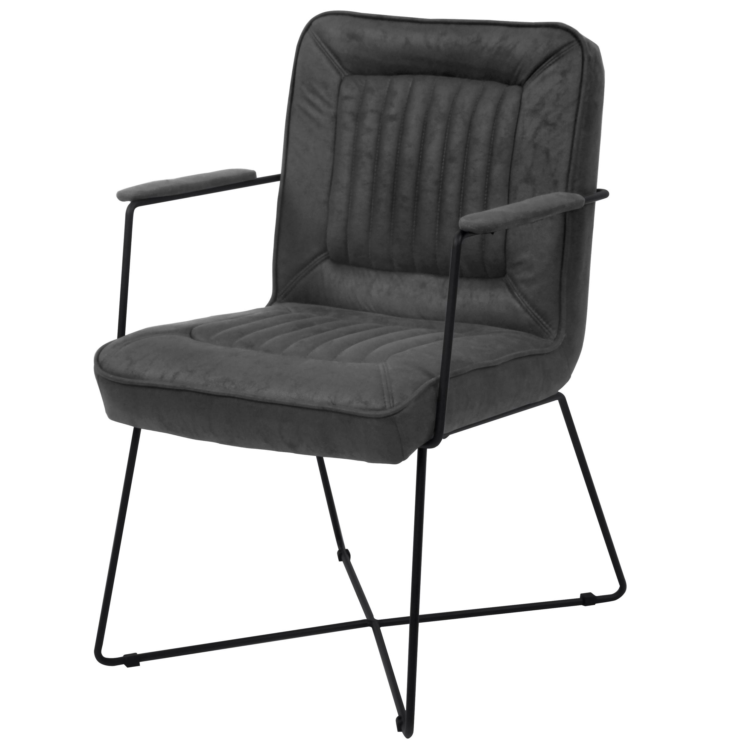 acheter fauteuil noir effet vielli