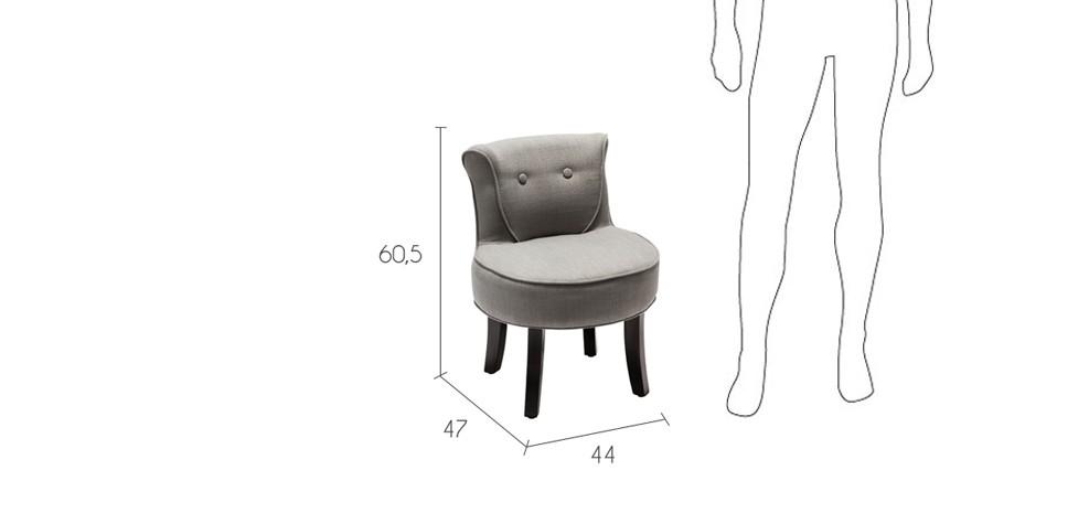 petit fauteuil crapaud gris clair commandez nos petits. Black Bedroom Furniture Sets. Home Design Ideas