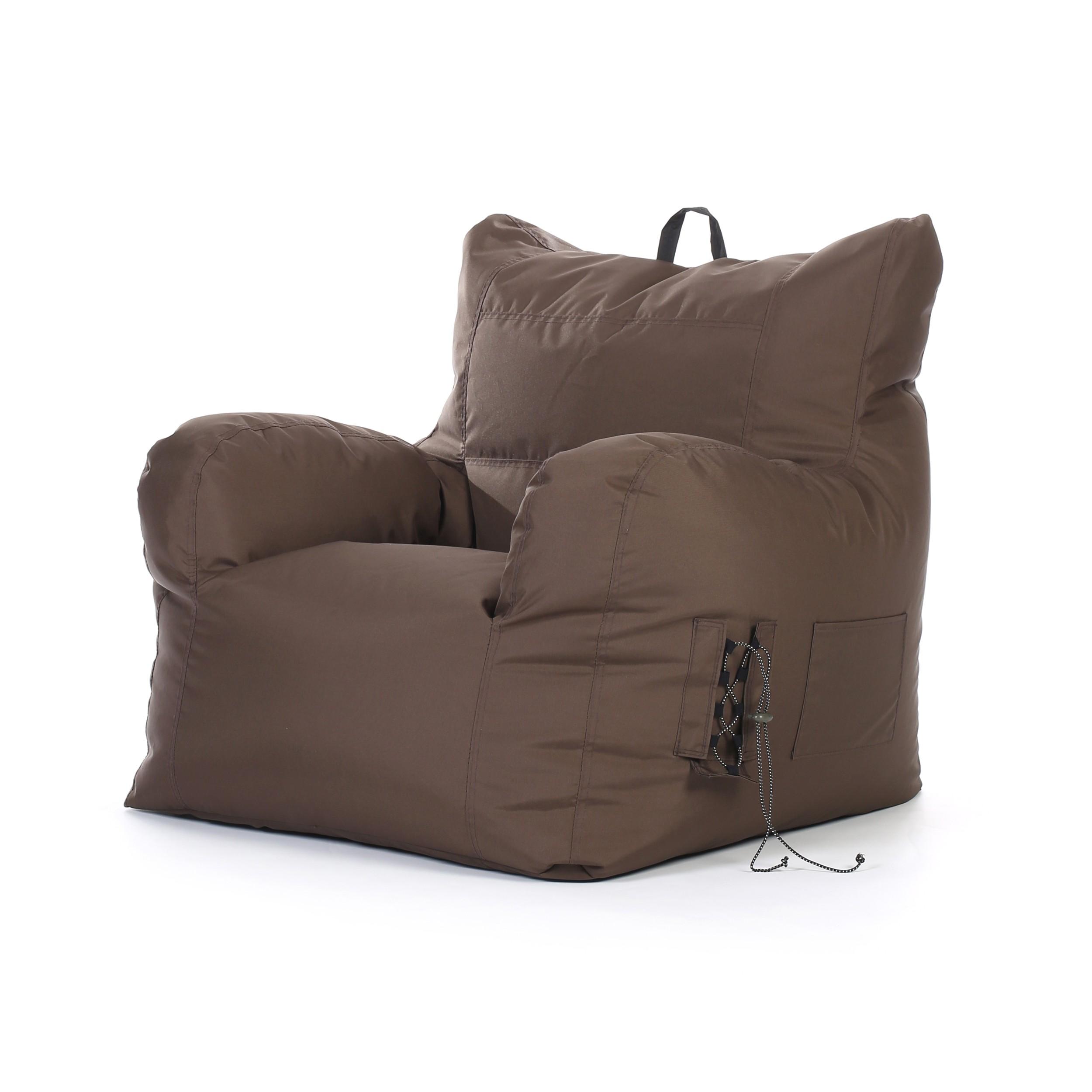acheter fauteuil pouf marron