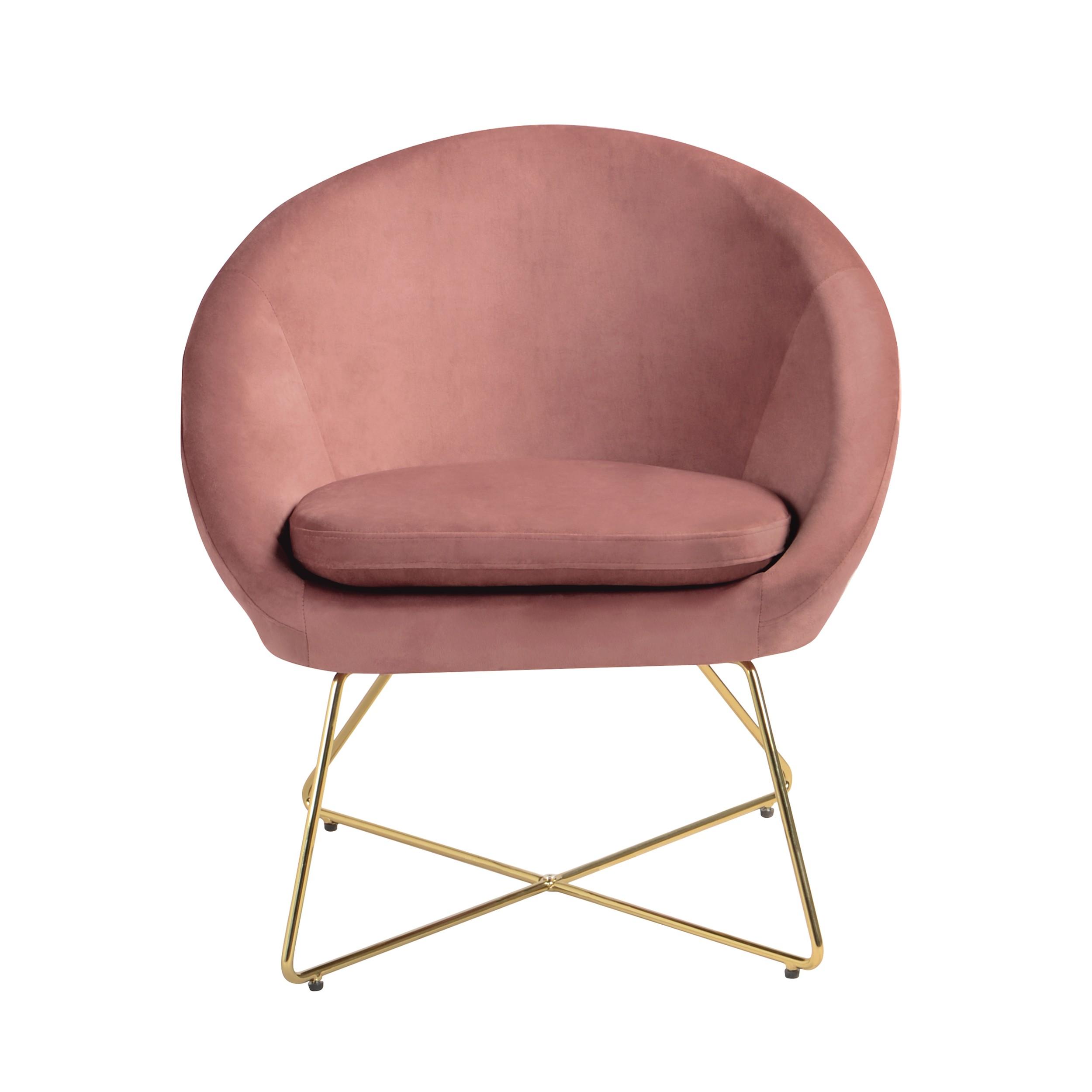 acheter fauteuil rose en velours