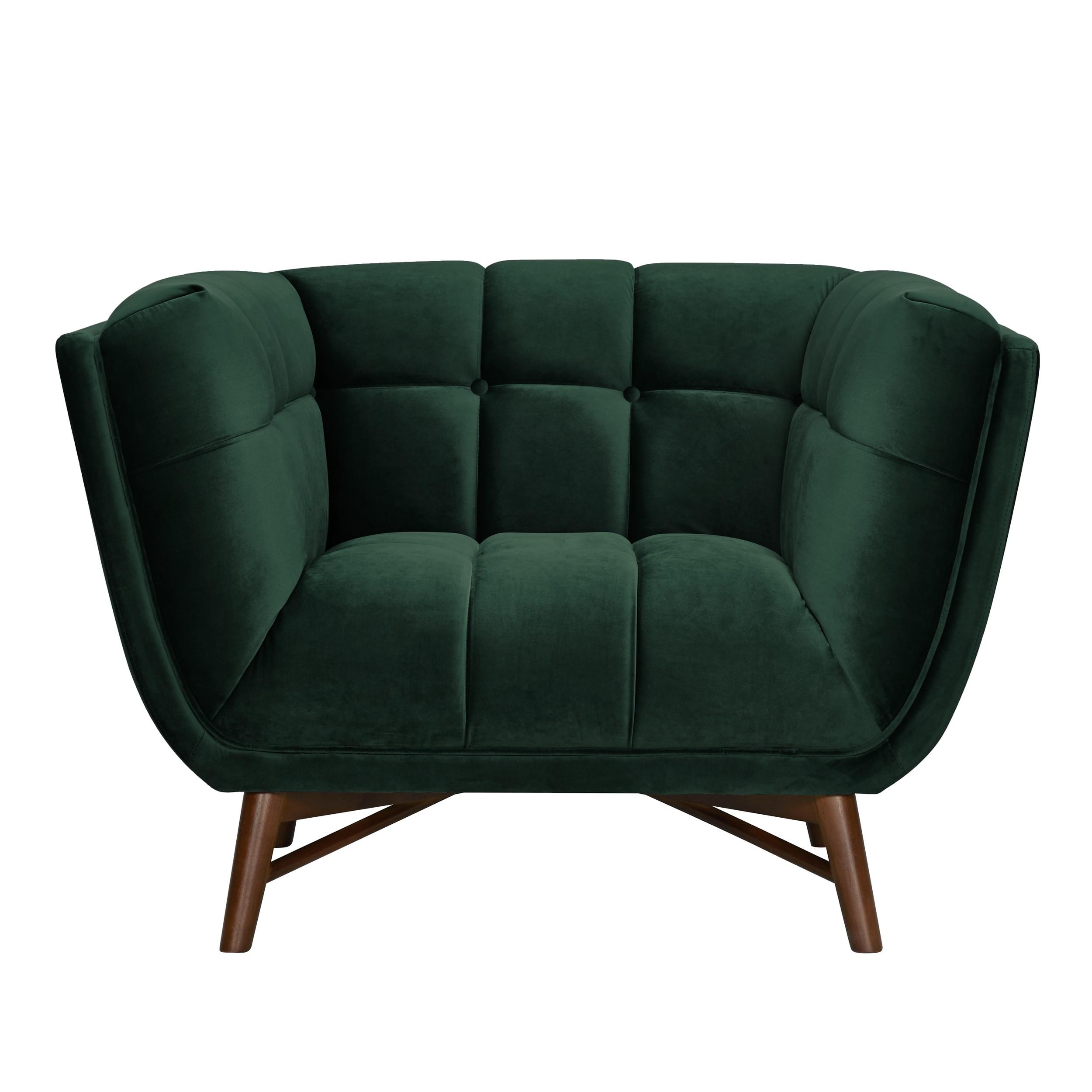 acheter fauteuil vert fonce en velours
