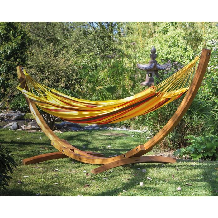 acheter hamac confortable jaune raye
