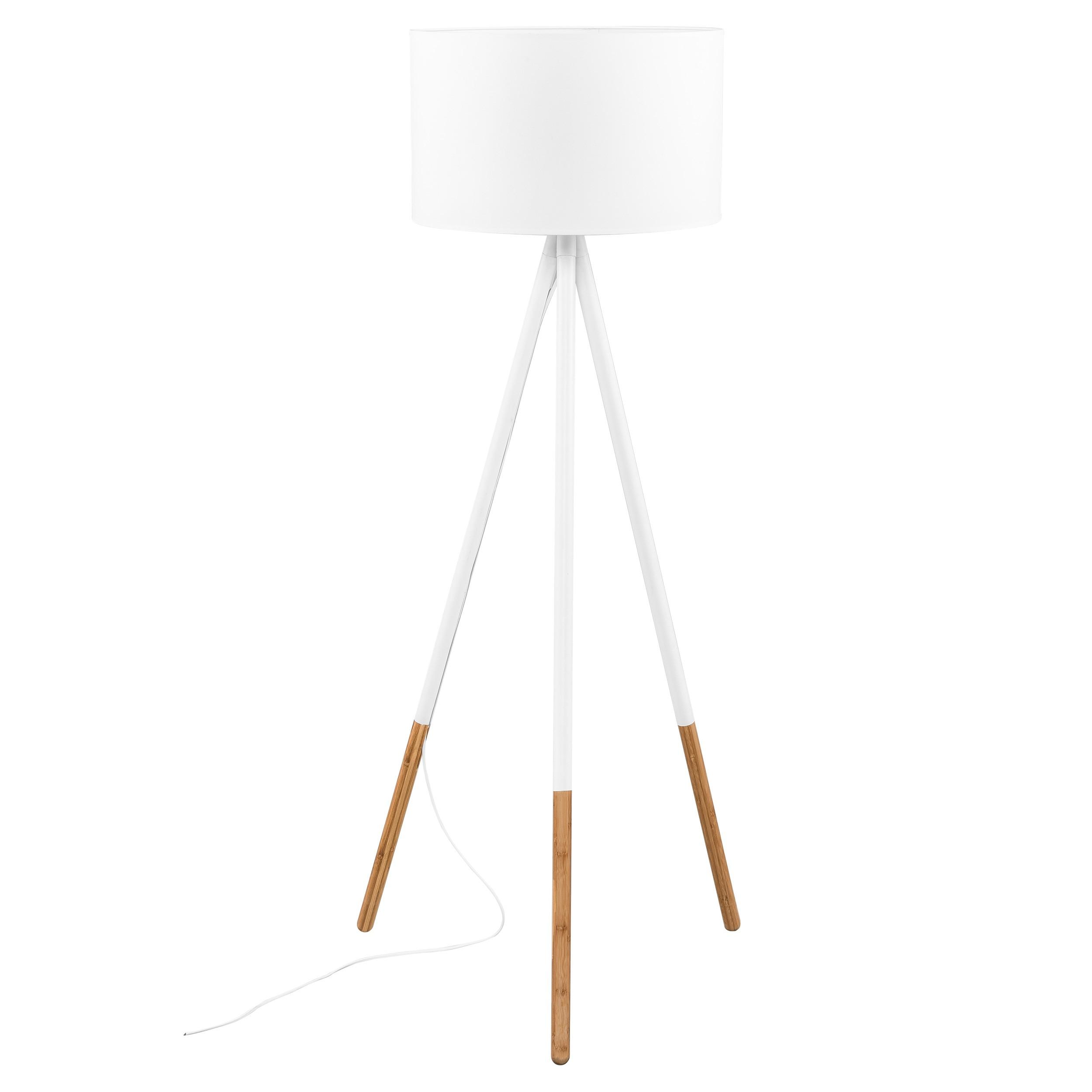 acheter lampadaire blanc et bois