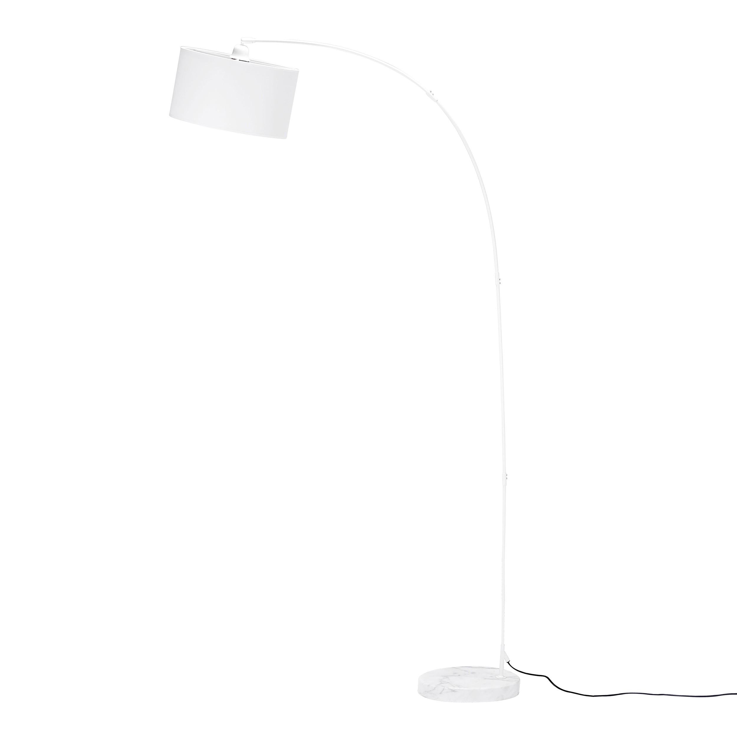 acheter lampadaire blanc tissu déco