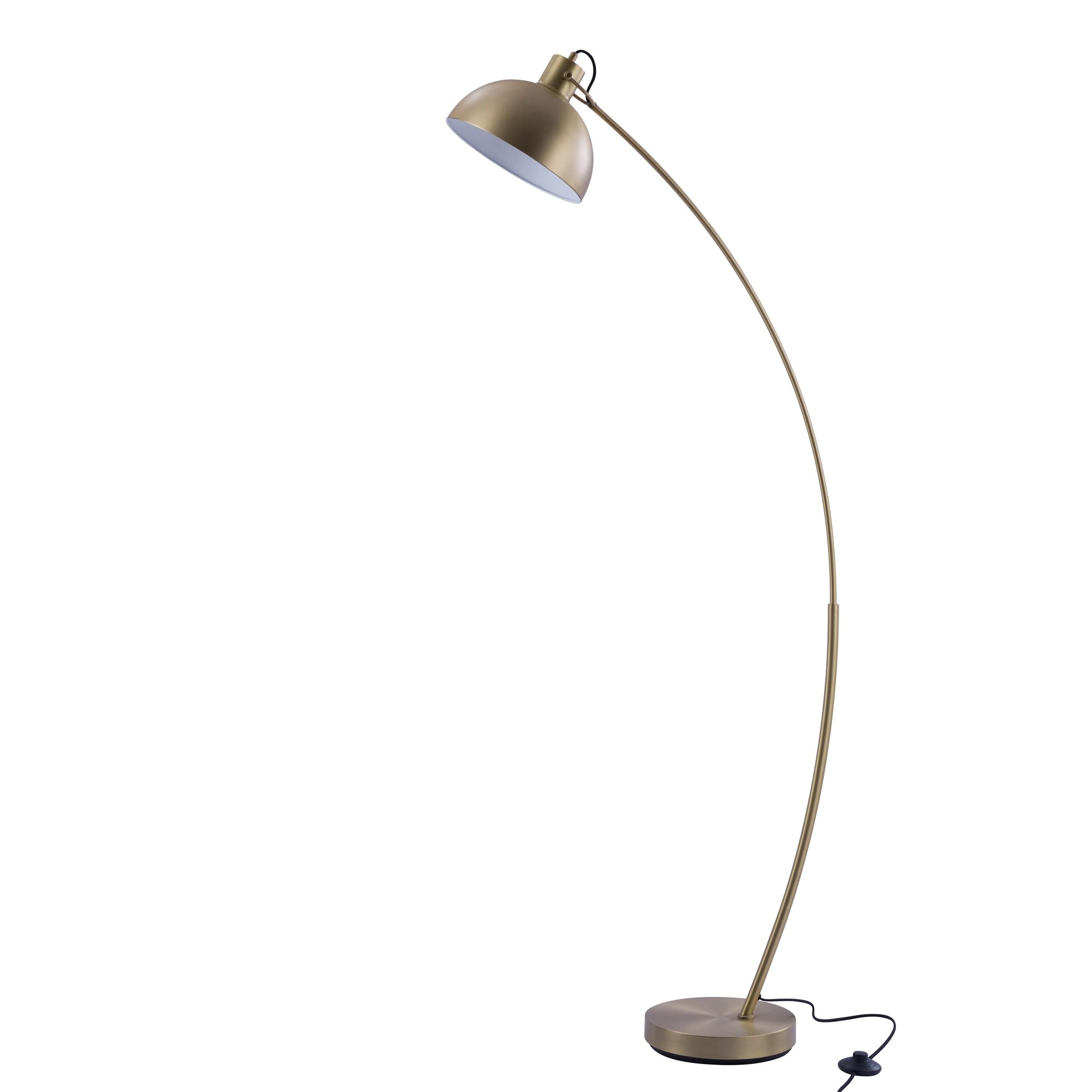 acheter lampadaire dore en metal