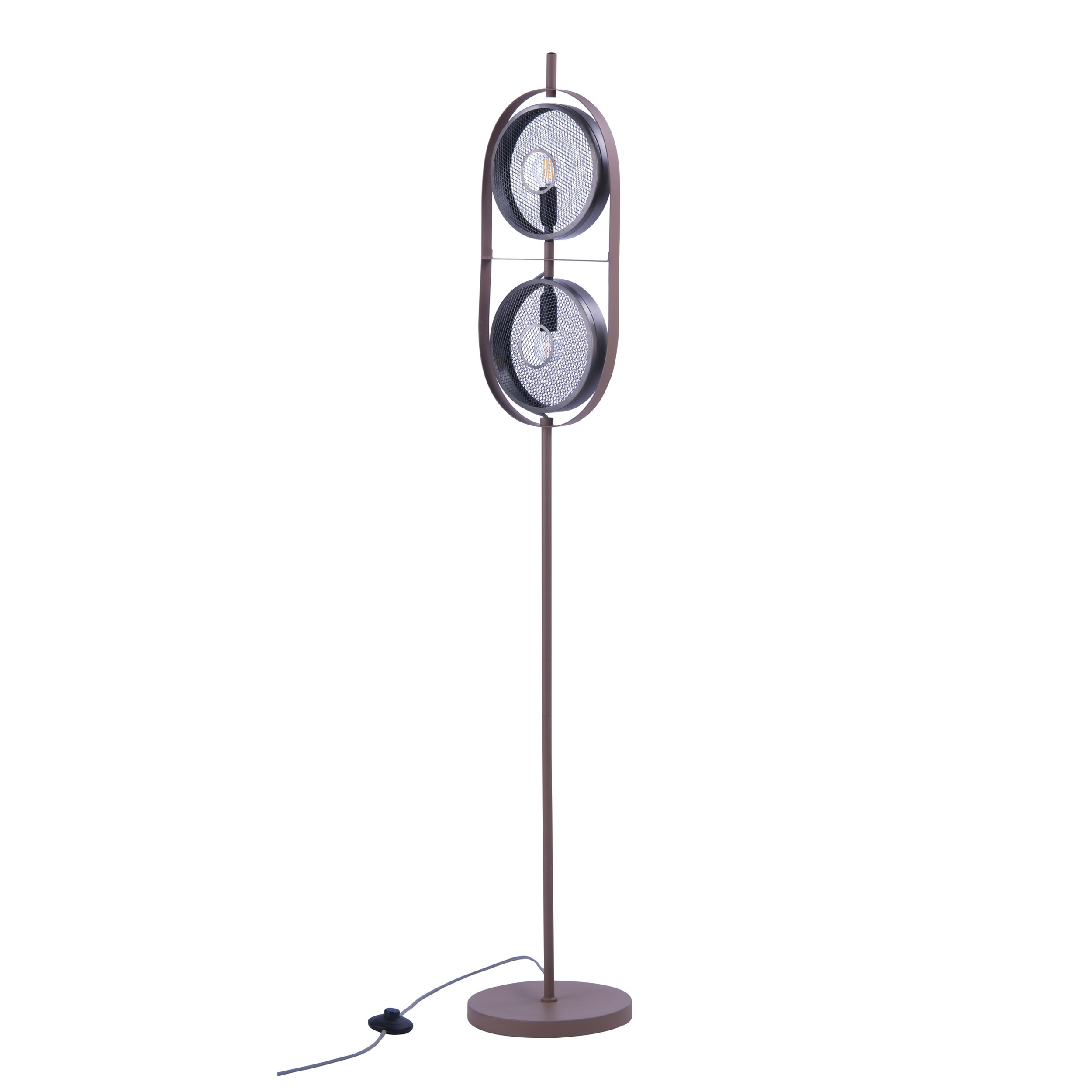 acheter lampadaire en metal grillage