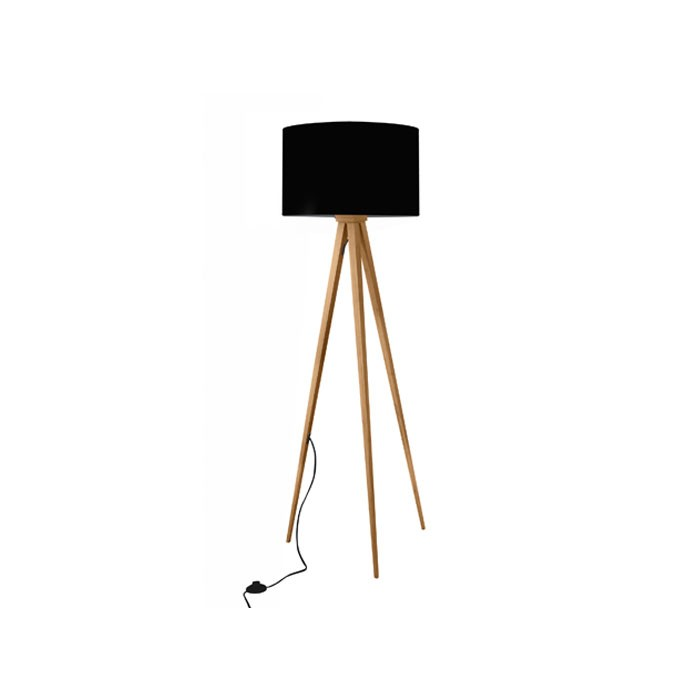 achat lampadaire trepied bicolore noir