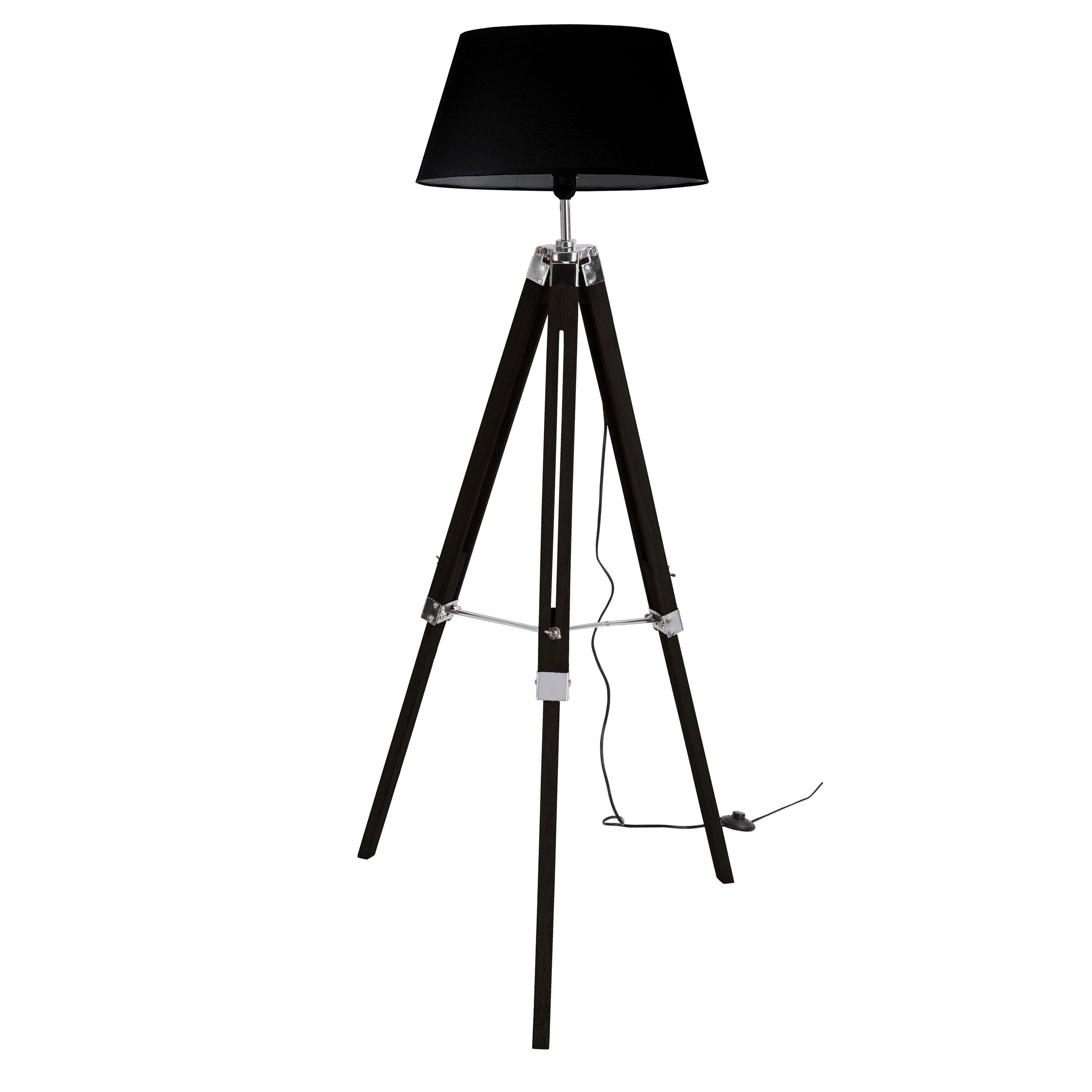 acheter lampadaire trepied noir pas cher