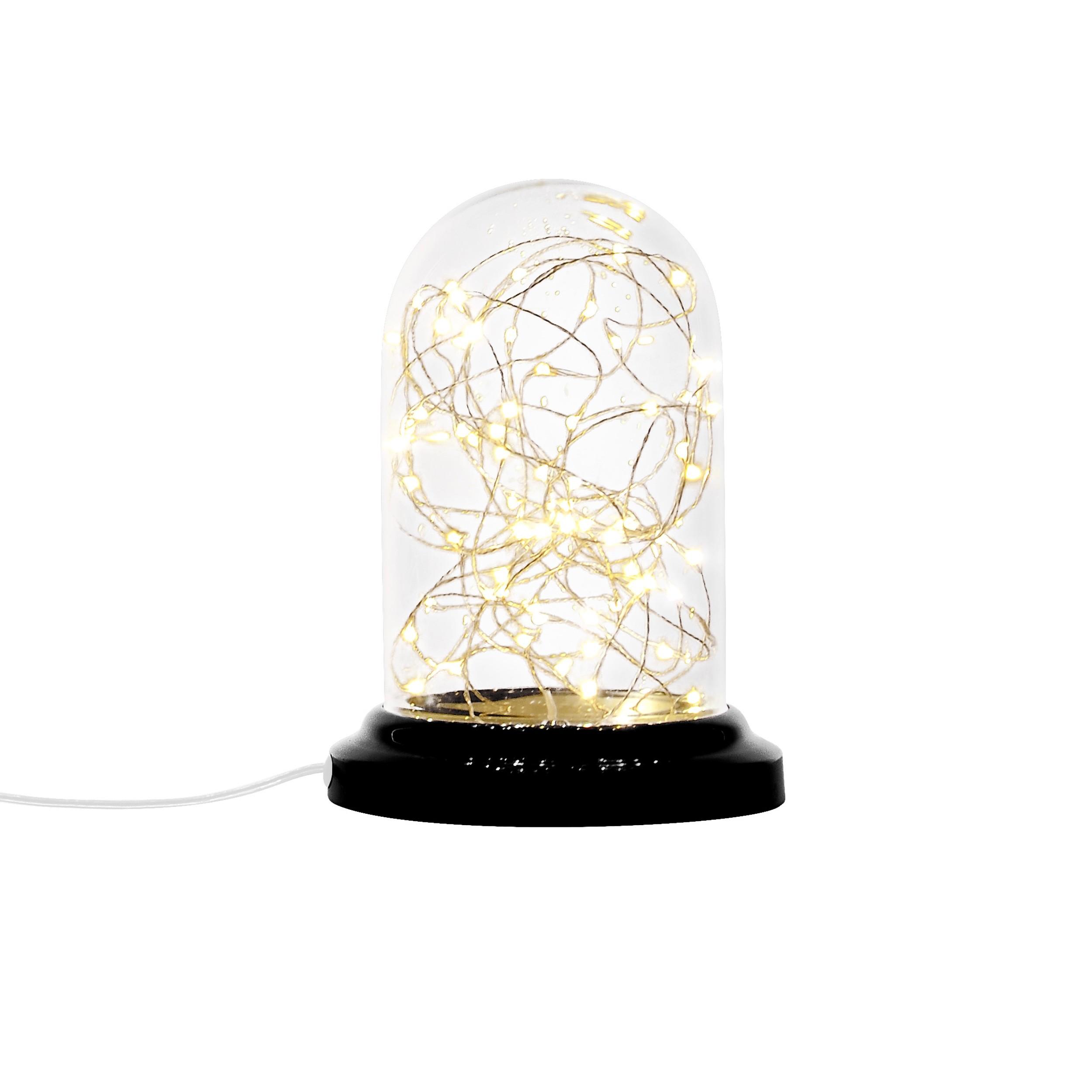 acheter lampe cloche guirlande noire