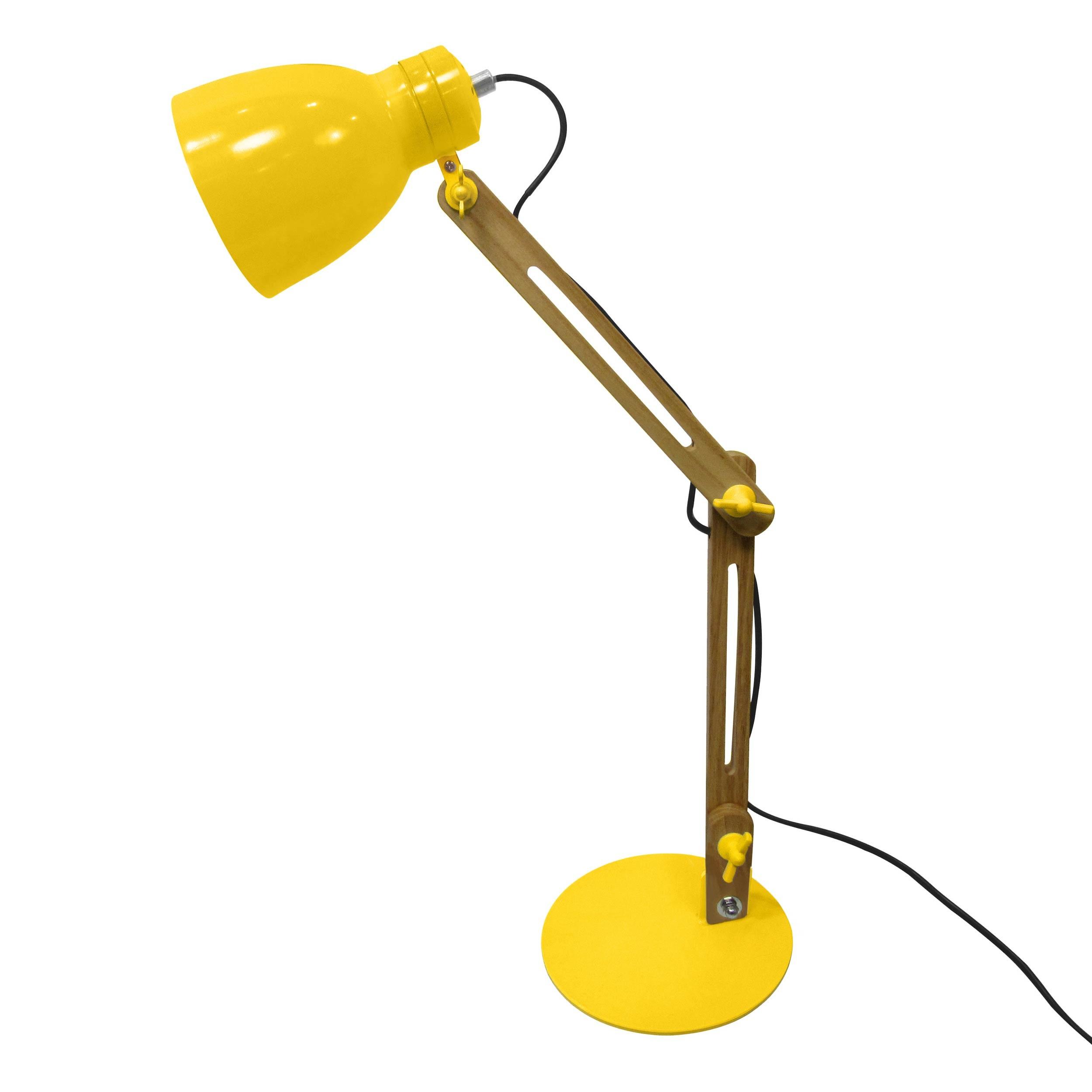 acheter lampe de bureau orientable jaune