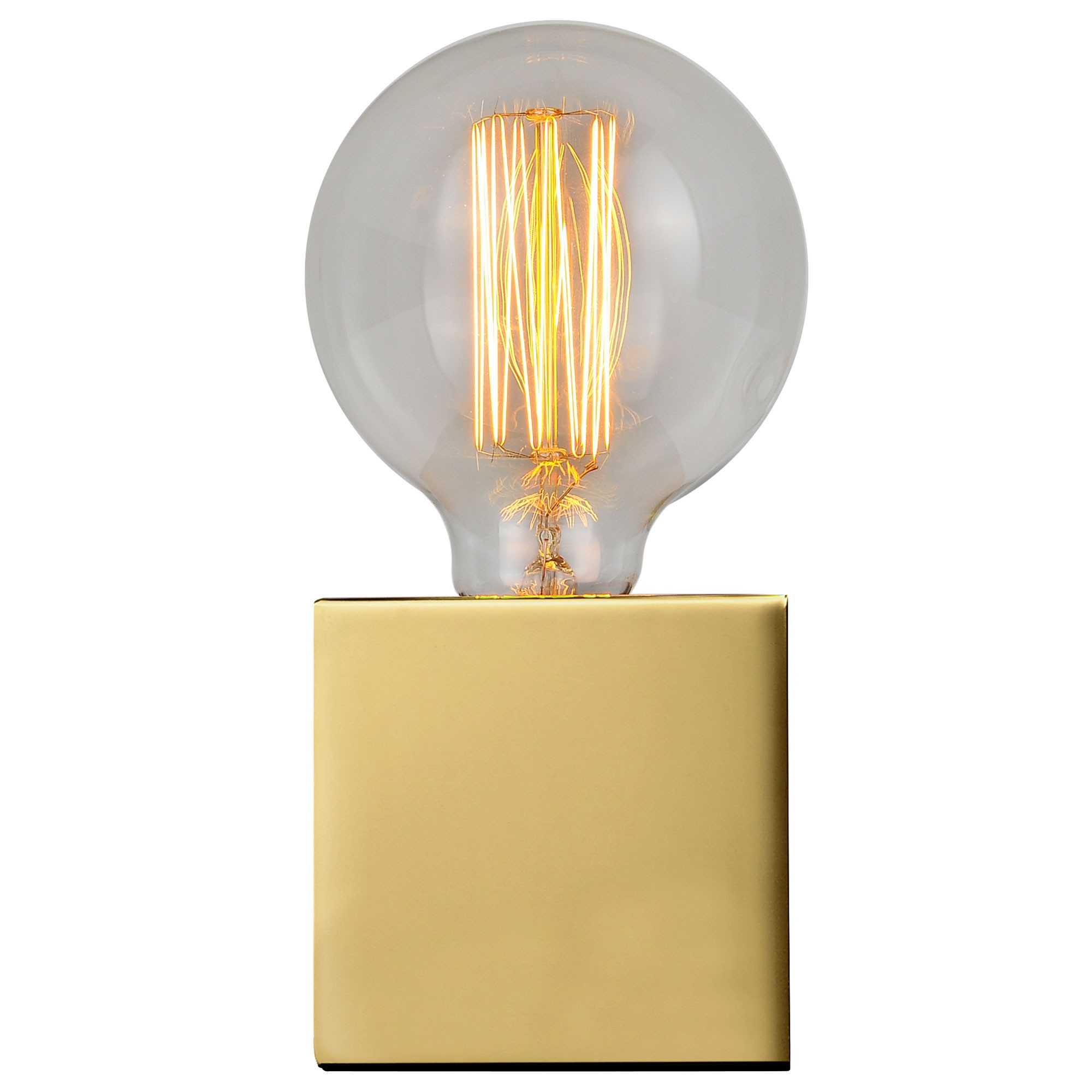 acheter lampe metal laiton carree