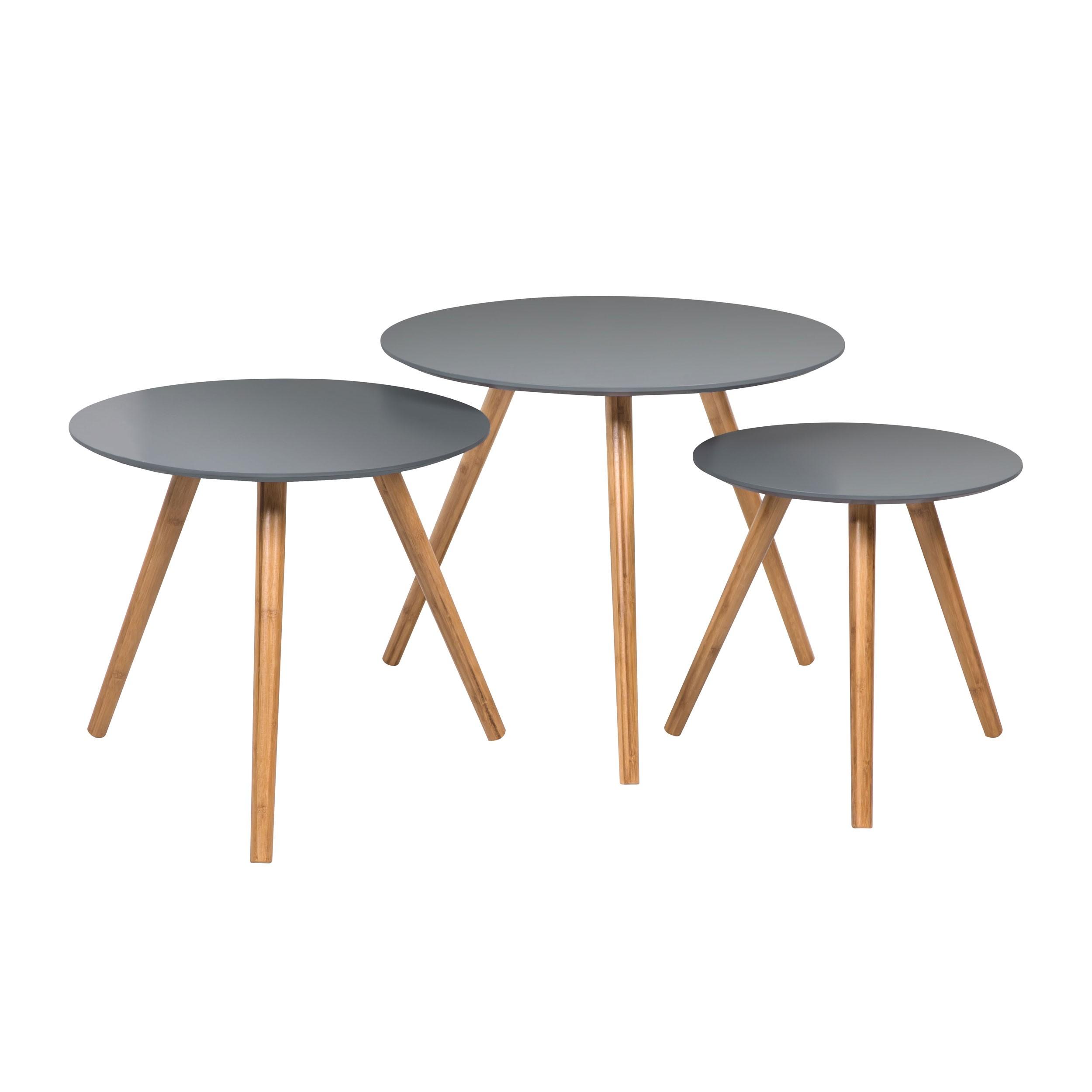acheter lot de 3 tables basses grises