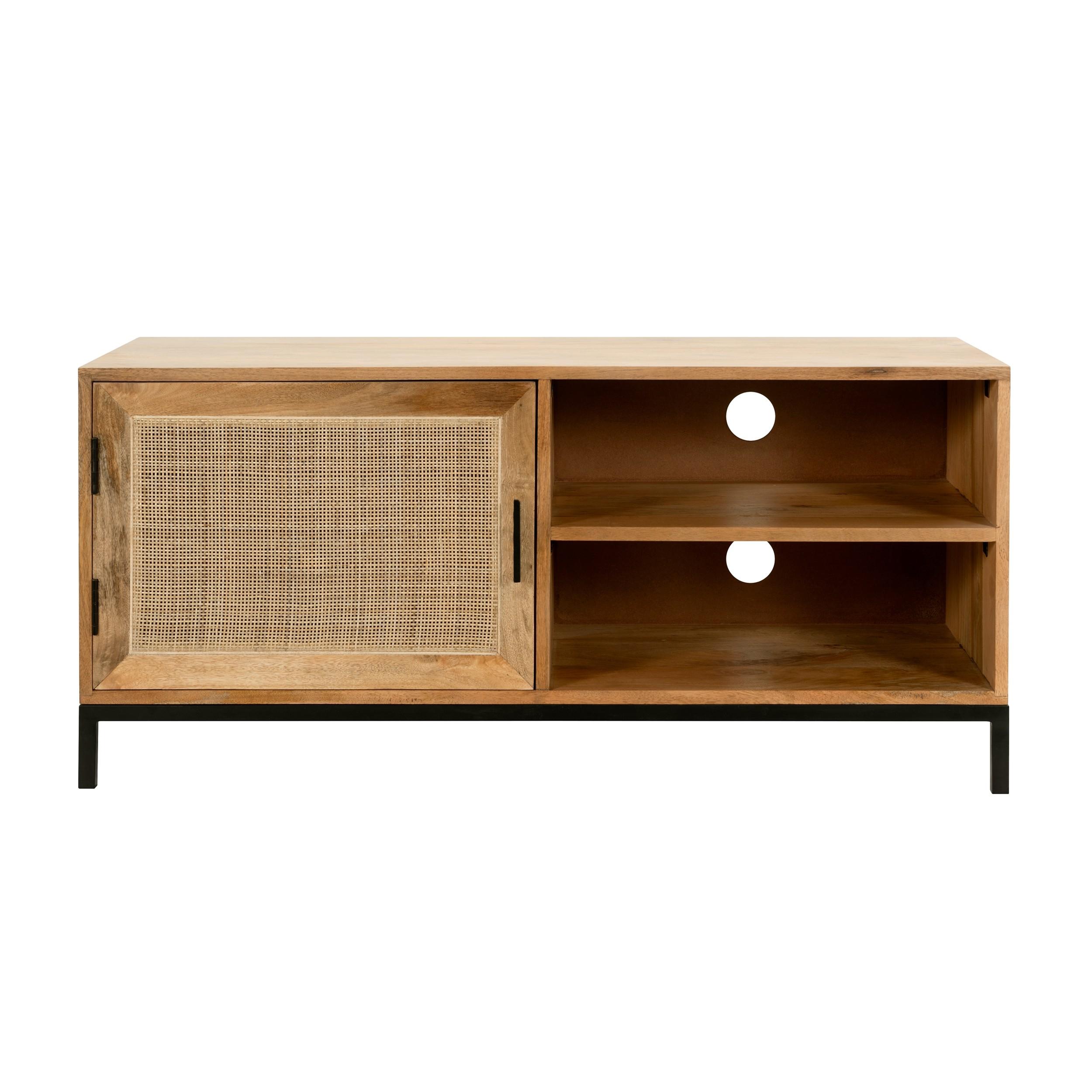 acheter meuble tv en cannage naturel